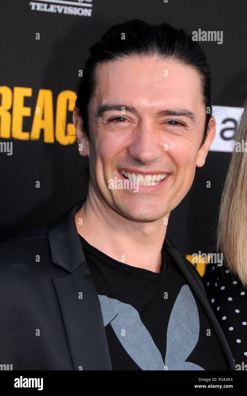 LOS ANGELES, CA - JUNE 14: Actor Adam Croasdell attends AMC's 'Preacher' Season 3 Premiere Party on June 14, 2018 at The Hearth and Hound in Los Angeles, California. Photo by Barry King/Alamy Live News - Stock Image