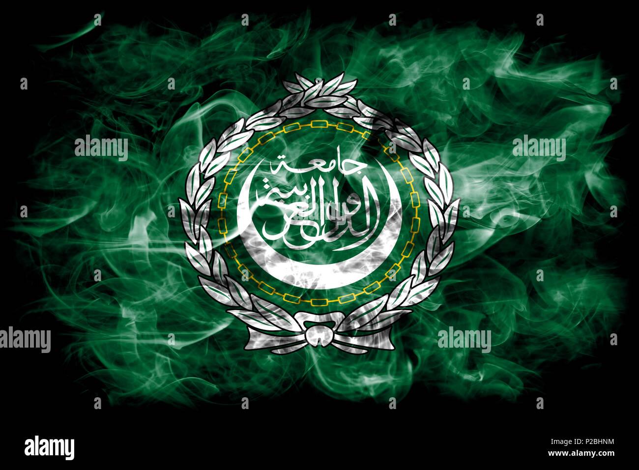 Arab League smoke flag, regional organization of Arab states - Stock Image