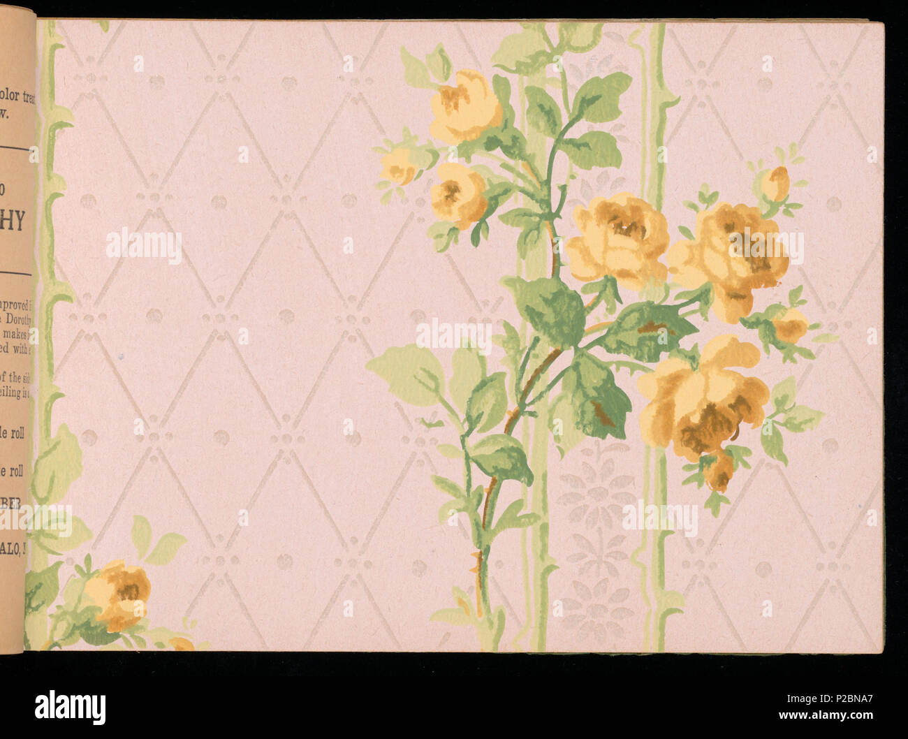 . English: Sample Book, The Larkin Wallpaper Book, No. 4, ca. 1915 . English: Mail order sample book which includes designs for every room in the home.