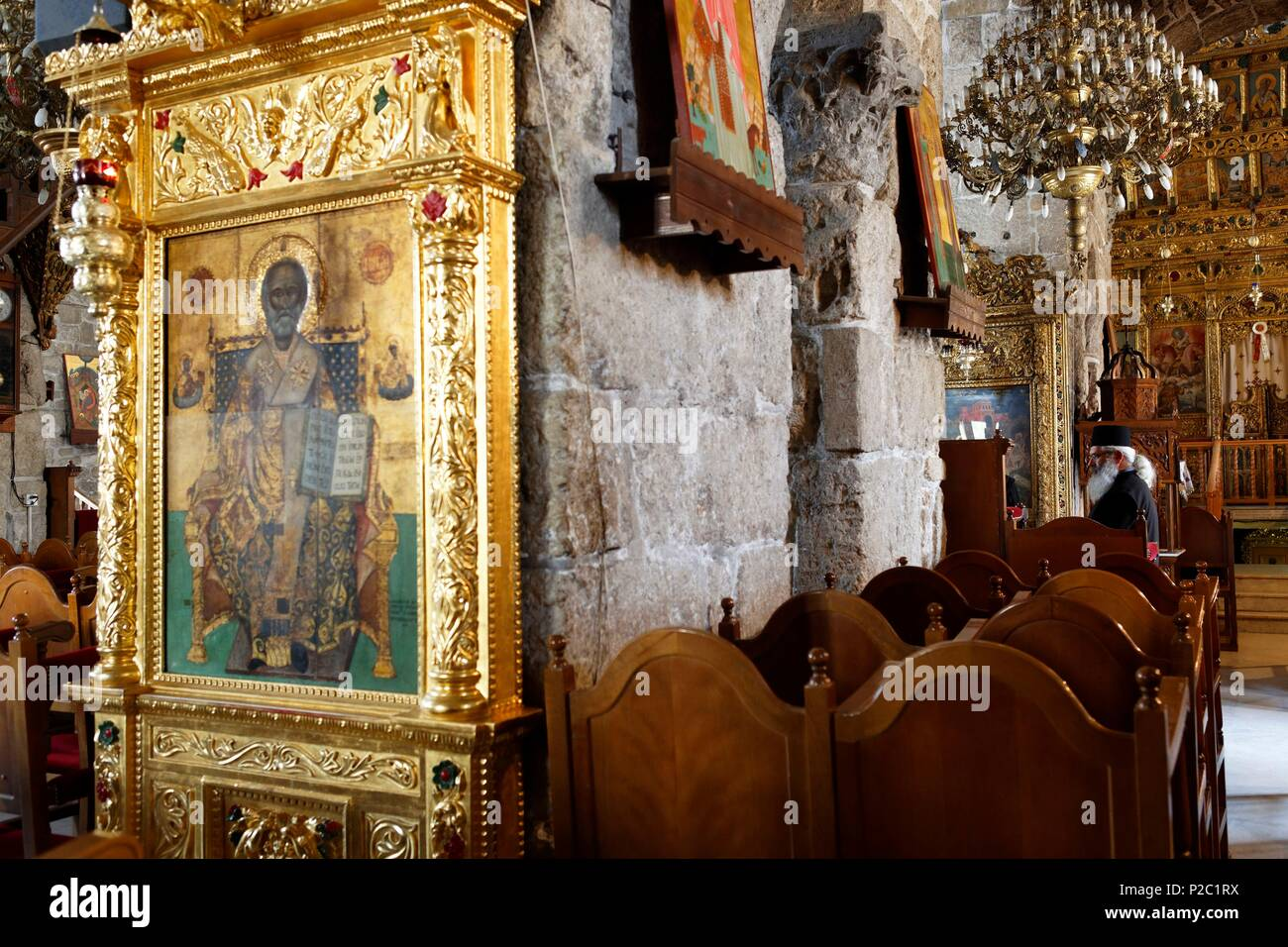 Cyprus, Larnaka, the church of St. Lazarus Larnaca dates from the end of the 9th century - Stock Image