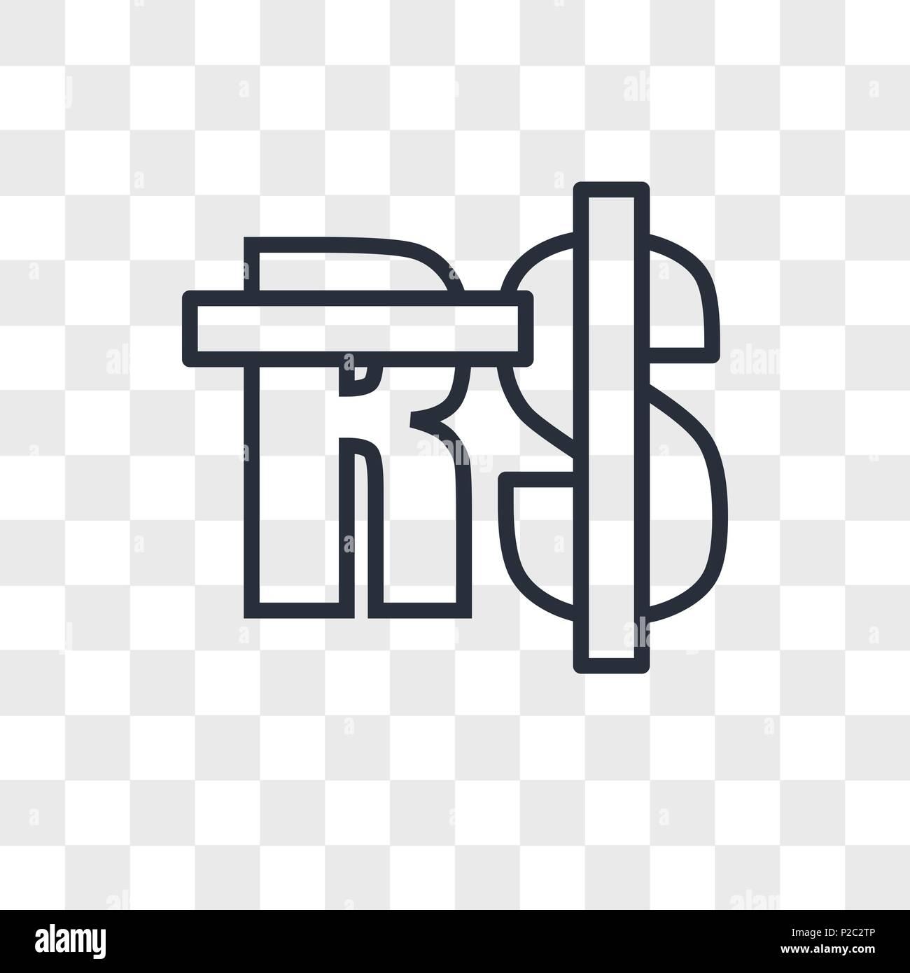 Saudi Riyal Vector Icon Isolated On Transparent Background Saudi