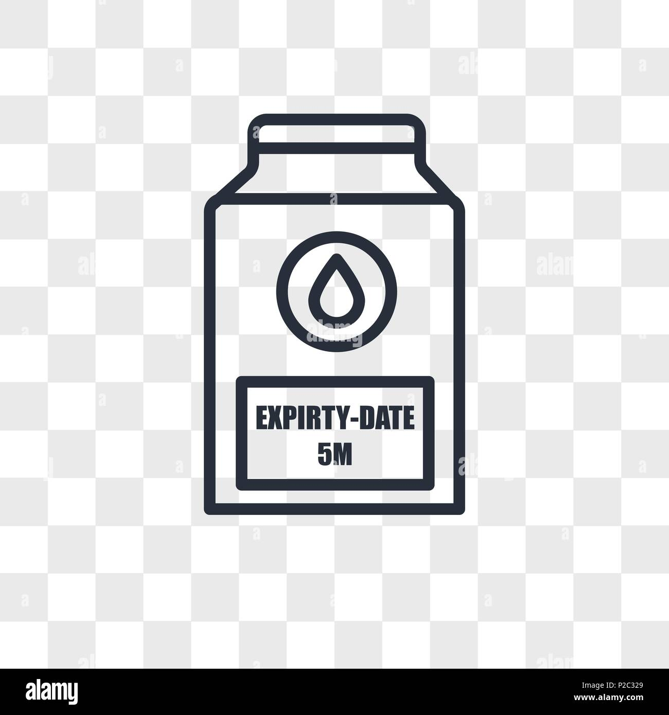 expiry date vector icon isolated on transparent background, expiry date logo concept Stock Vector