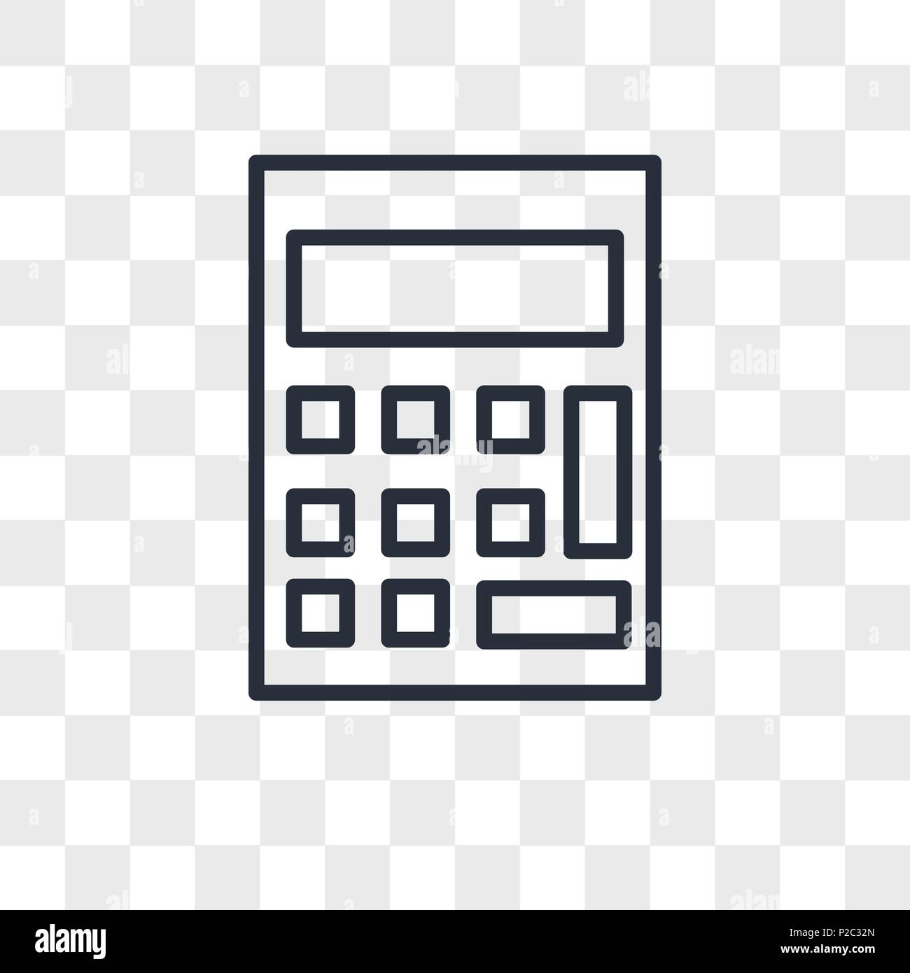 calculator vector icon isolated on transparent background