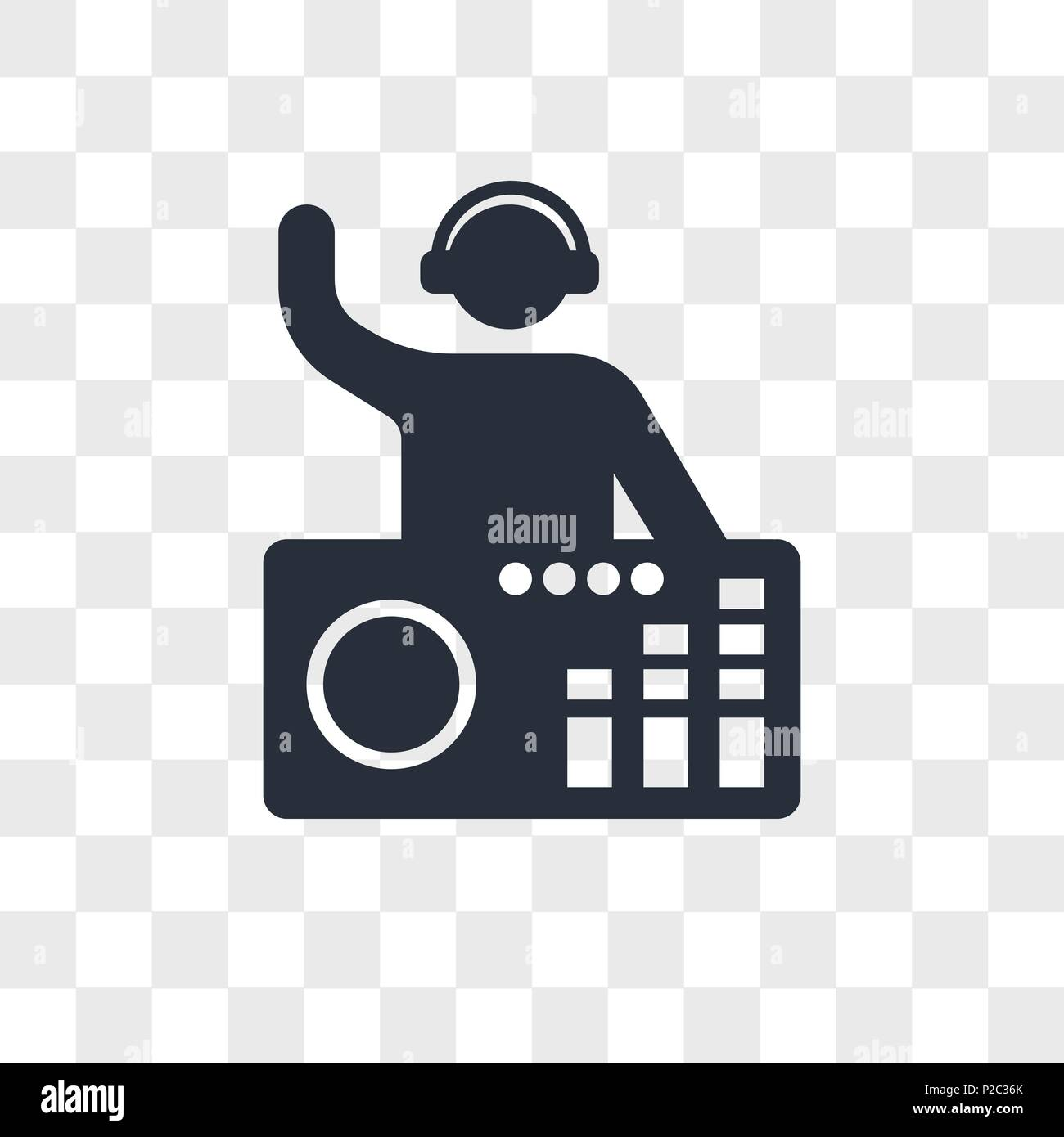 DJ Mixing Music vector icon isolated on transparent