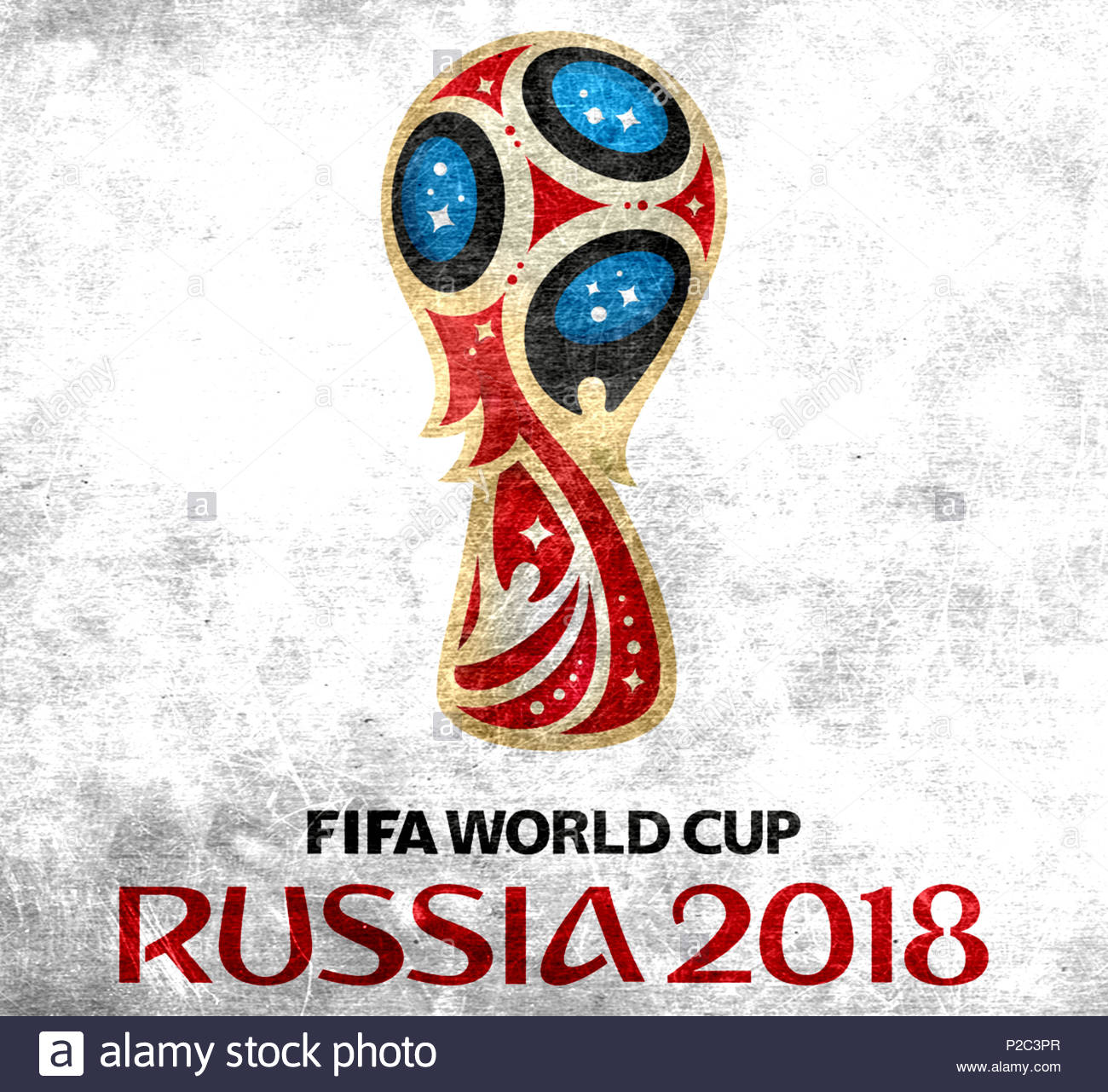 FIFA World Cup 2018 in Russia logo - Stock Image
