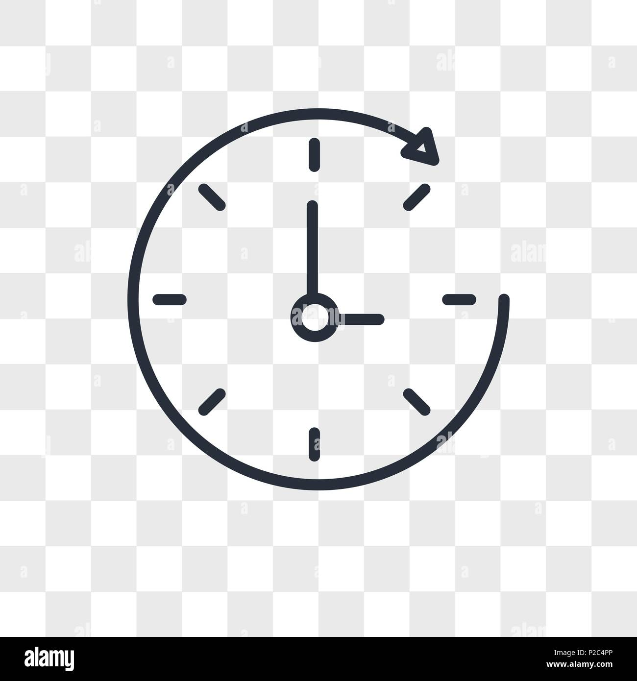 Time Passing Vector Icon Isolated On Transparent Background Time