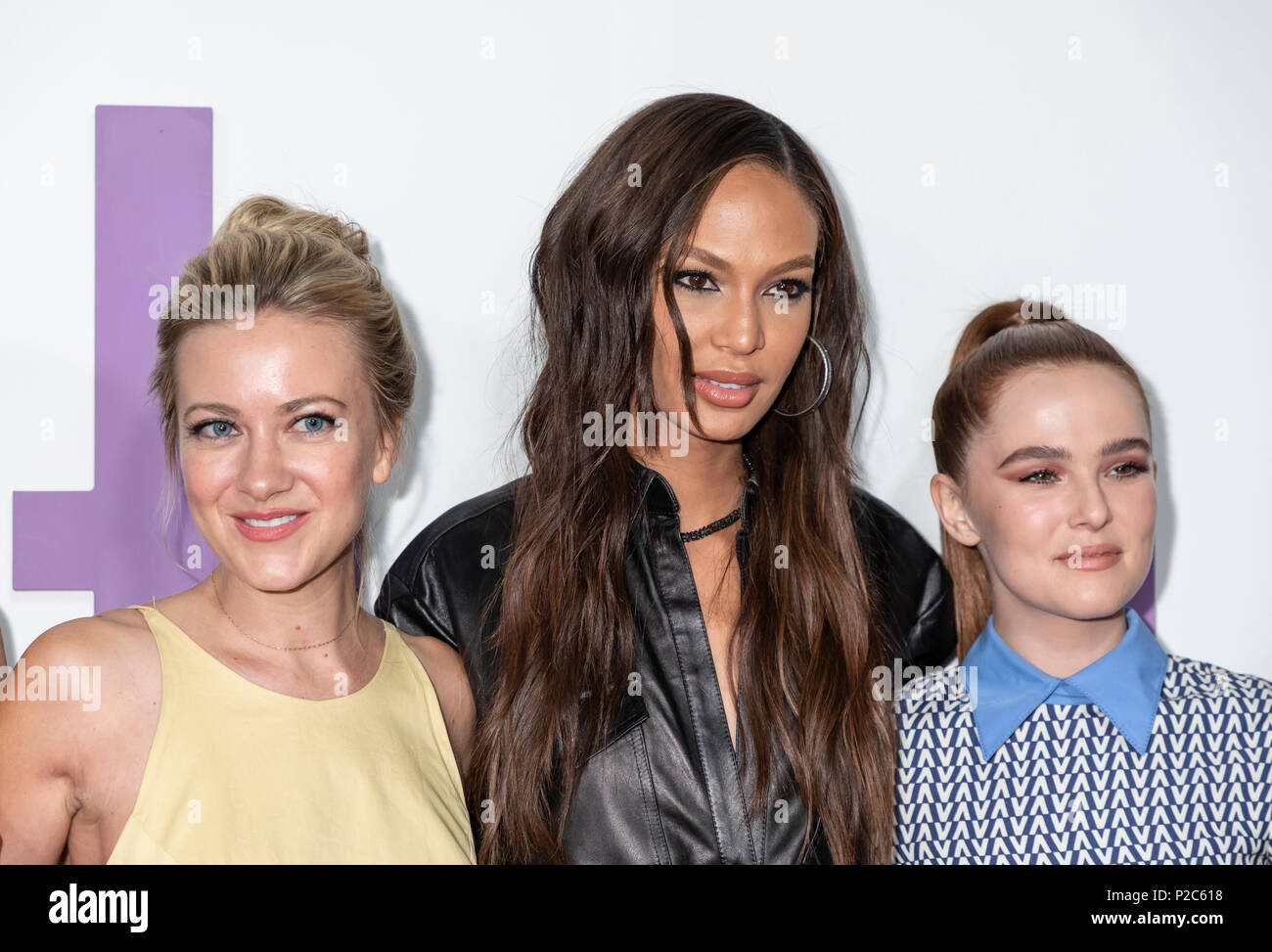 New York, NY, USA - June 12, 2018: Actors Meredith Hagner, Joan Small and Zoey Deutch attend the New York special screening of the Netflix film 'Set I - Stock Image