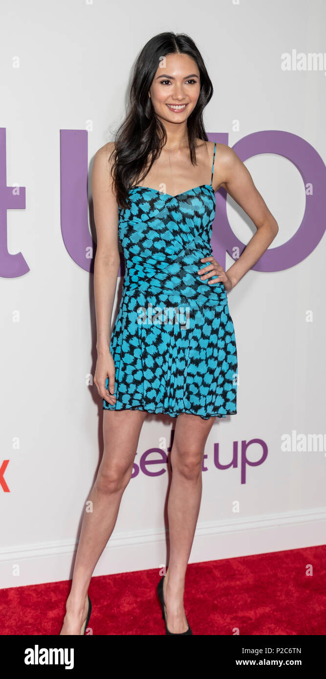 New York, NY, USA - June 12, 2018: Jessica Barta Lam attends the New York special screening of the Netflix film 'Set It Up' at AMC Loews Lincoln Squar - Stock Image