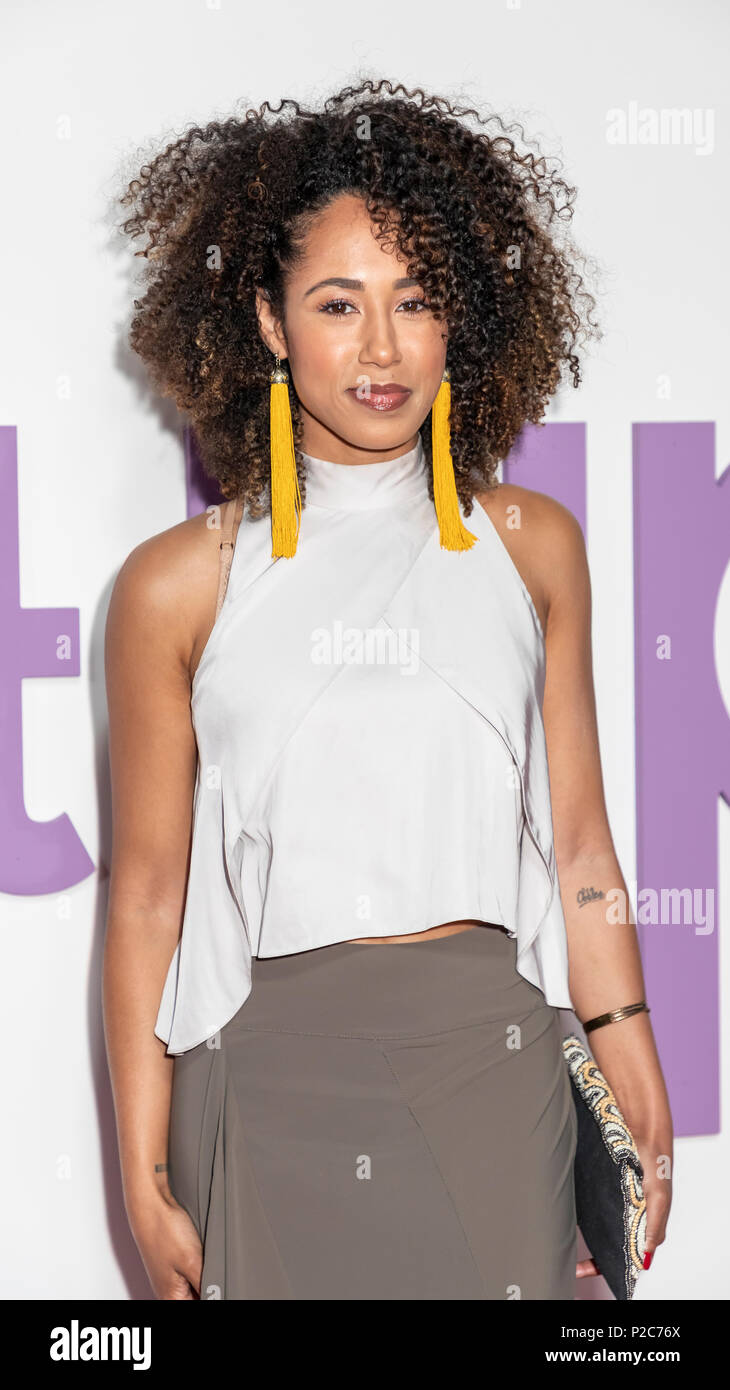 New York, NY, USA - June 12, 2018: Margot Bingham attends the New York special screening of the Netflix film 'Set It Up' at AMC Loews Lincoln Square - Stock Image