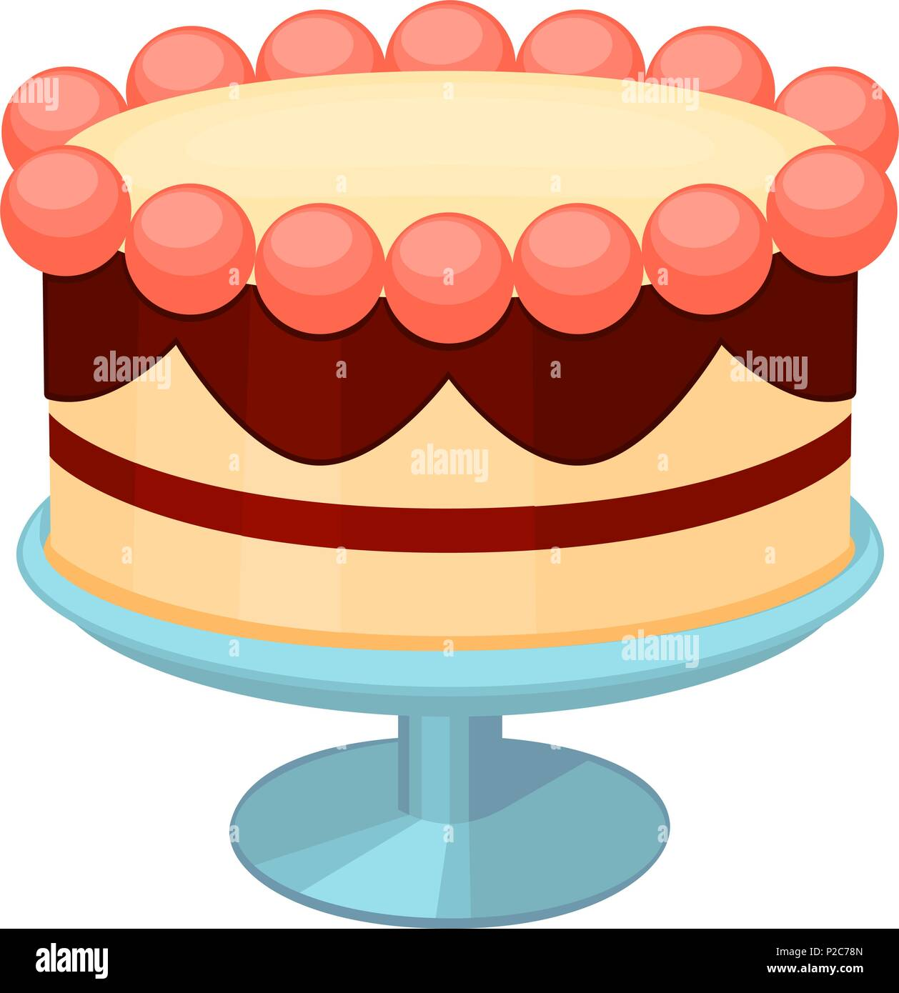 Wedding Cake Stand Stock Vector Images - Alamy