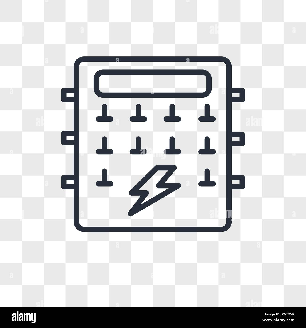 Fuse box vector icon isolated on transparent background, Fuse box logo  concept