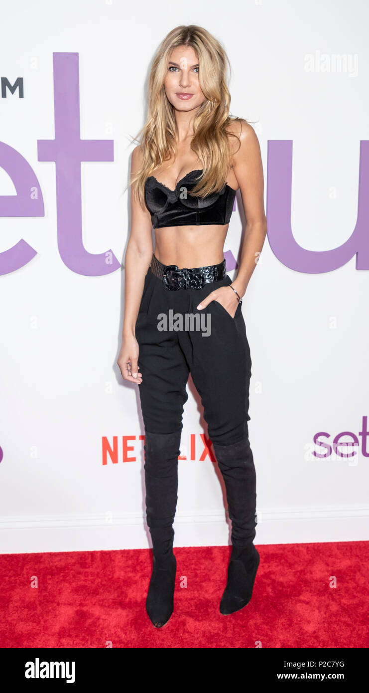 New York, NY, USA - June 12, 2018: Ashley Haas attends the New York special screening of the Netflix film 'Set It Up' at AMC Loews Lincoln Square - Stock Image