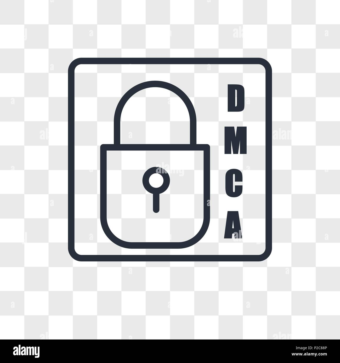 dmca vector icon isolated on transparent background, dmca logo concept