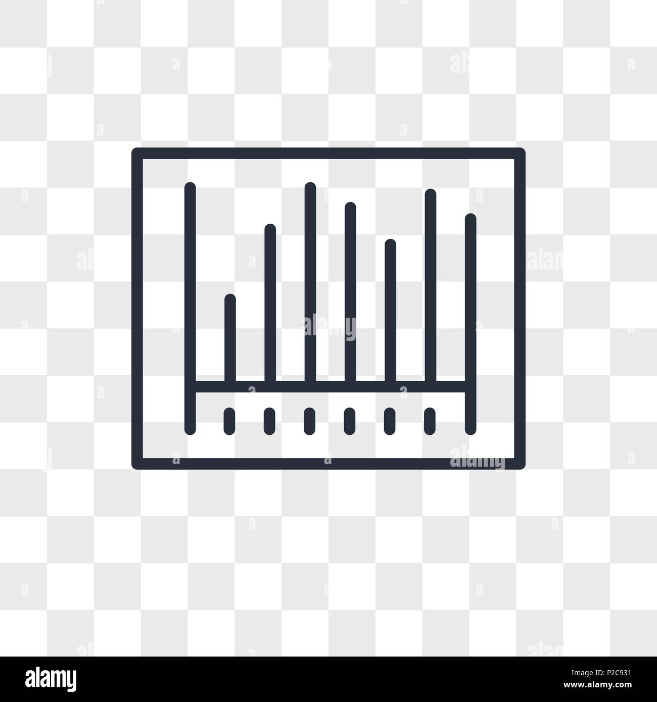 Barcode vector icon isolated on transparent background