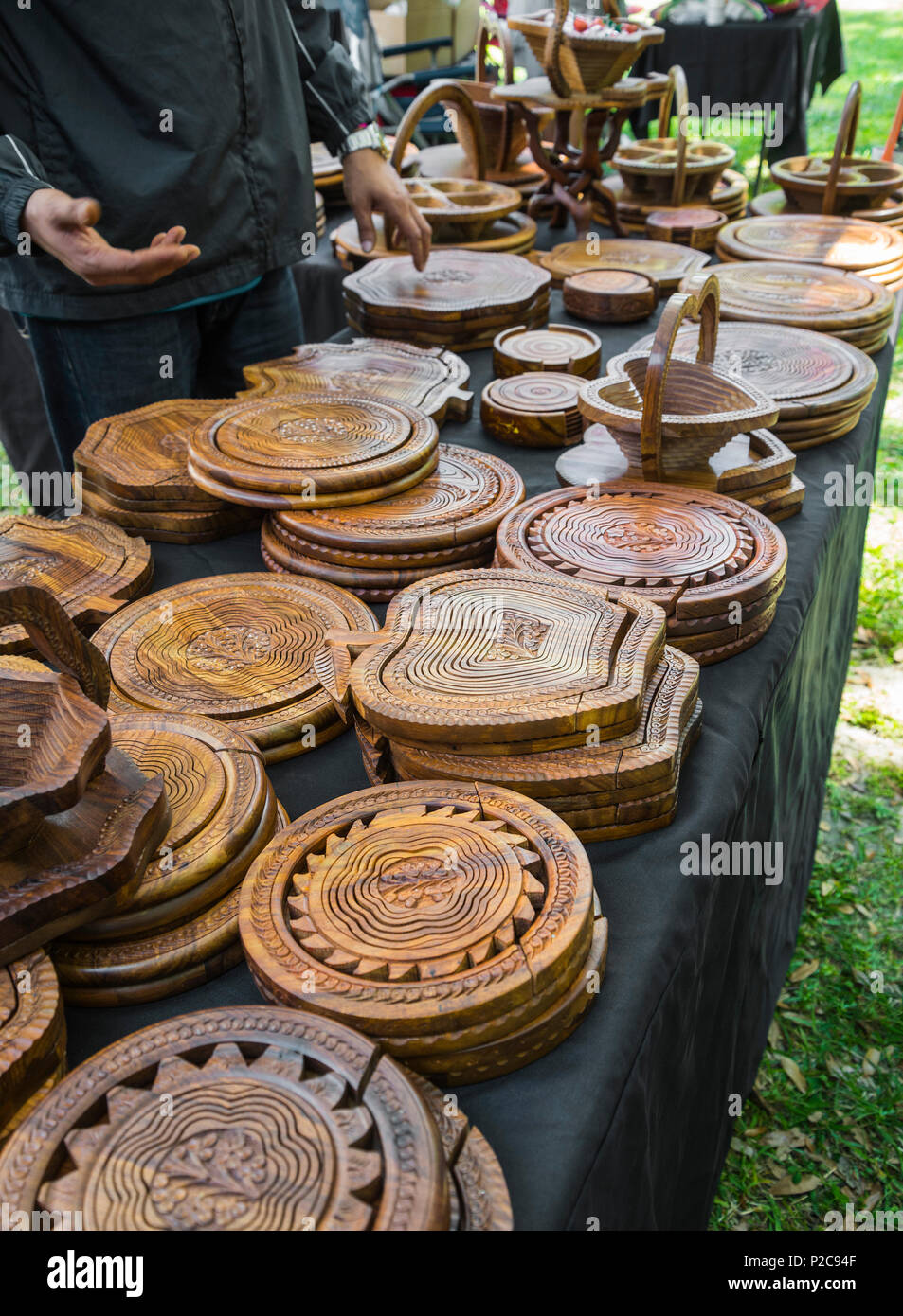 Wood Carvings For Sale Stock Photos & Wood Carvings For Sale Stock ...