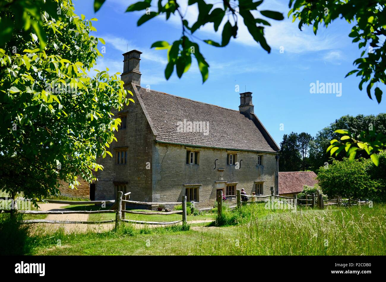 Exterior of Woolsthorpe Manor, Lincolnshire, birthplace and home of the scientist and mathematician Sir Isaac Newton. - Stock Image