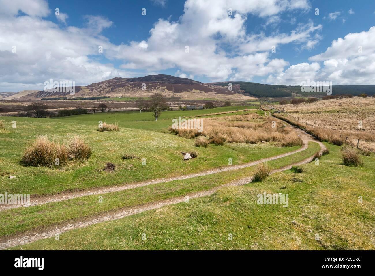 United Kingdom, Scotland, North Ayrshire, Arran island, Blackwaterfoot, typical landscape - Stock Image