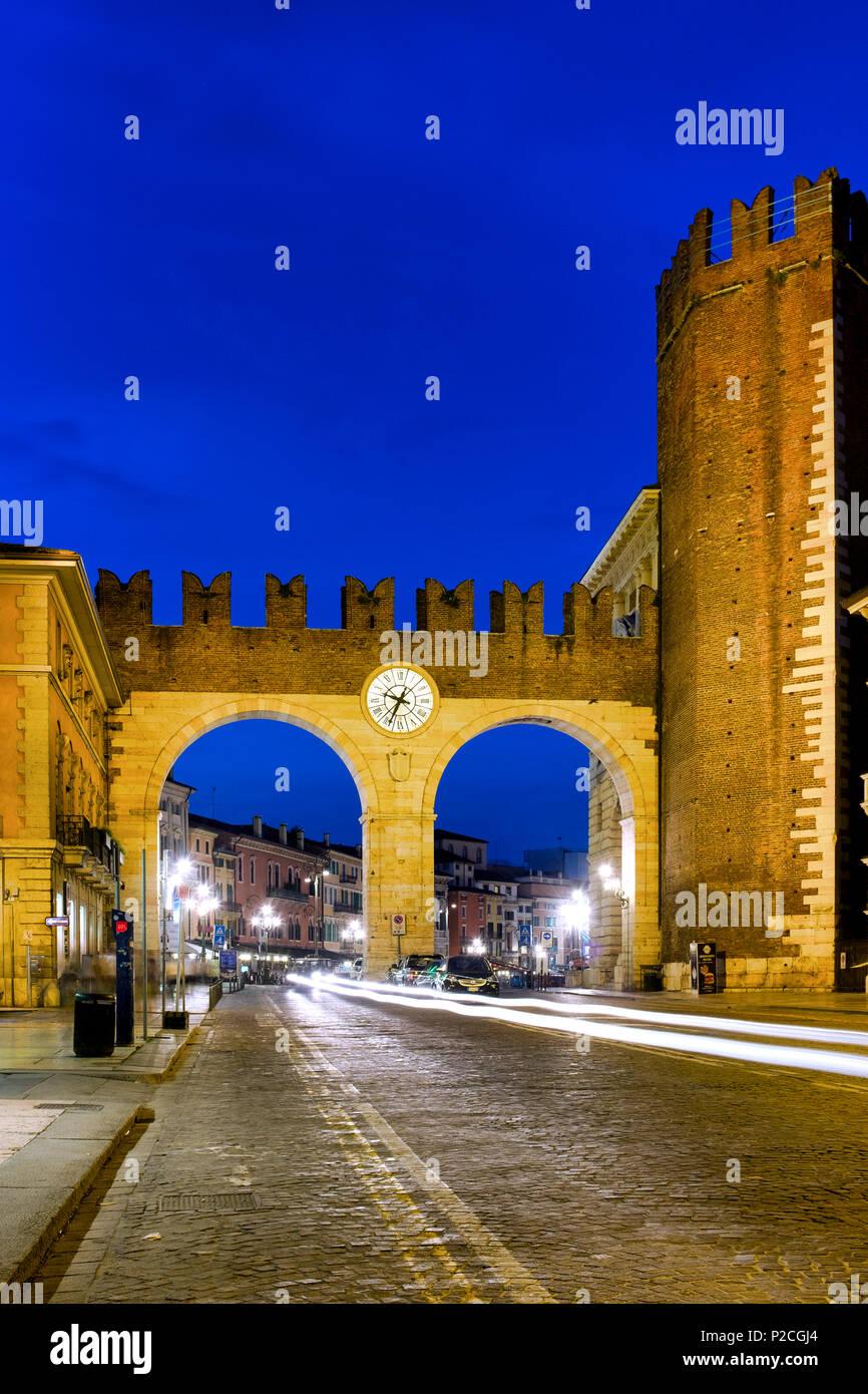 Portoni della Bra, Verona, Italy - Stock Image