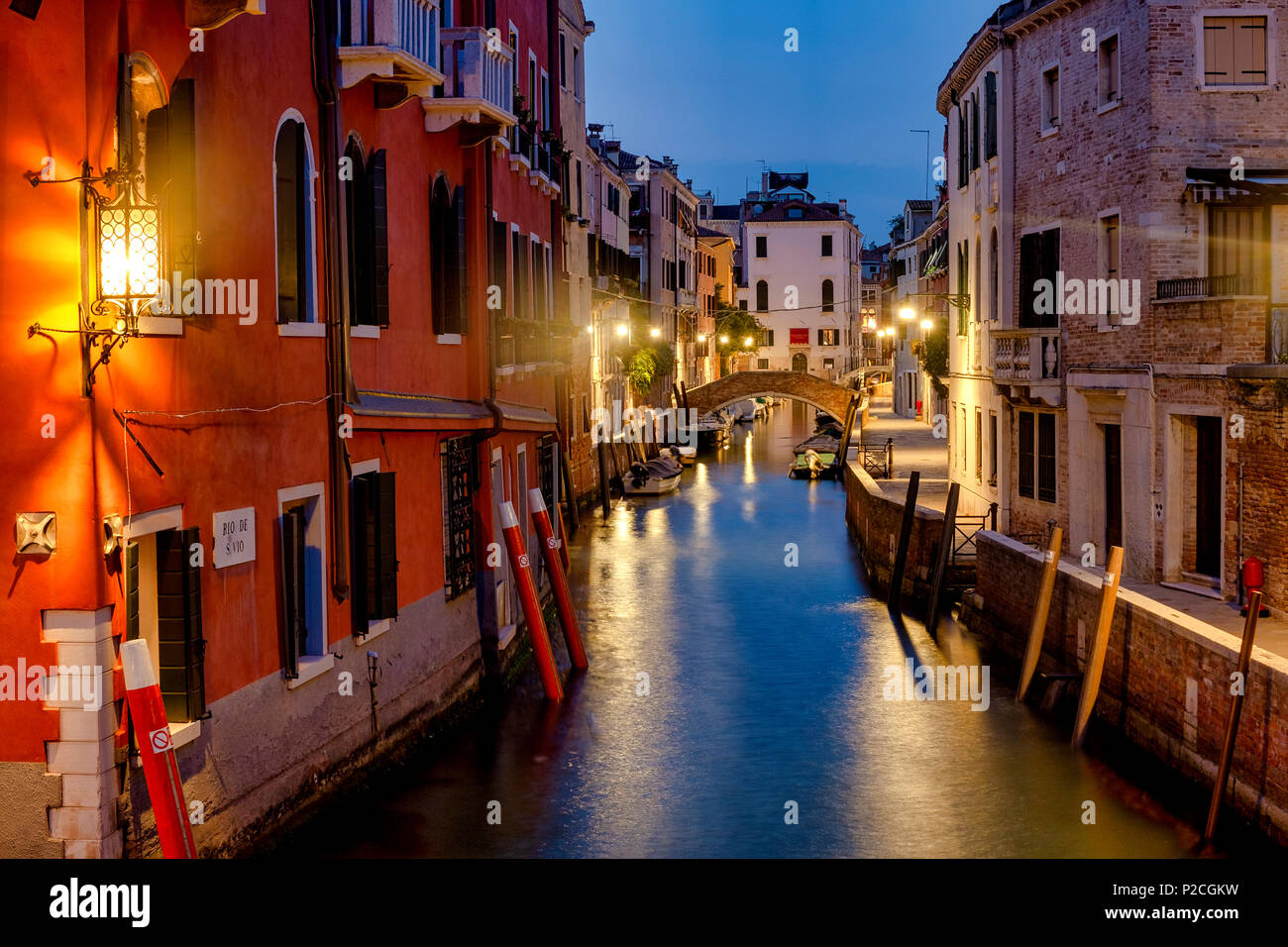 Rio di San Vio, the canal that connects Canal Grande to the Canale della Giudecca, Venice, Italy - Stock Image