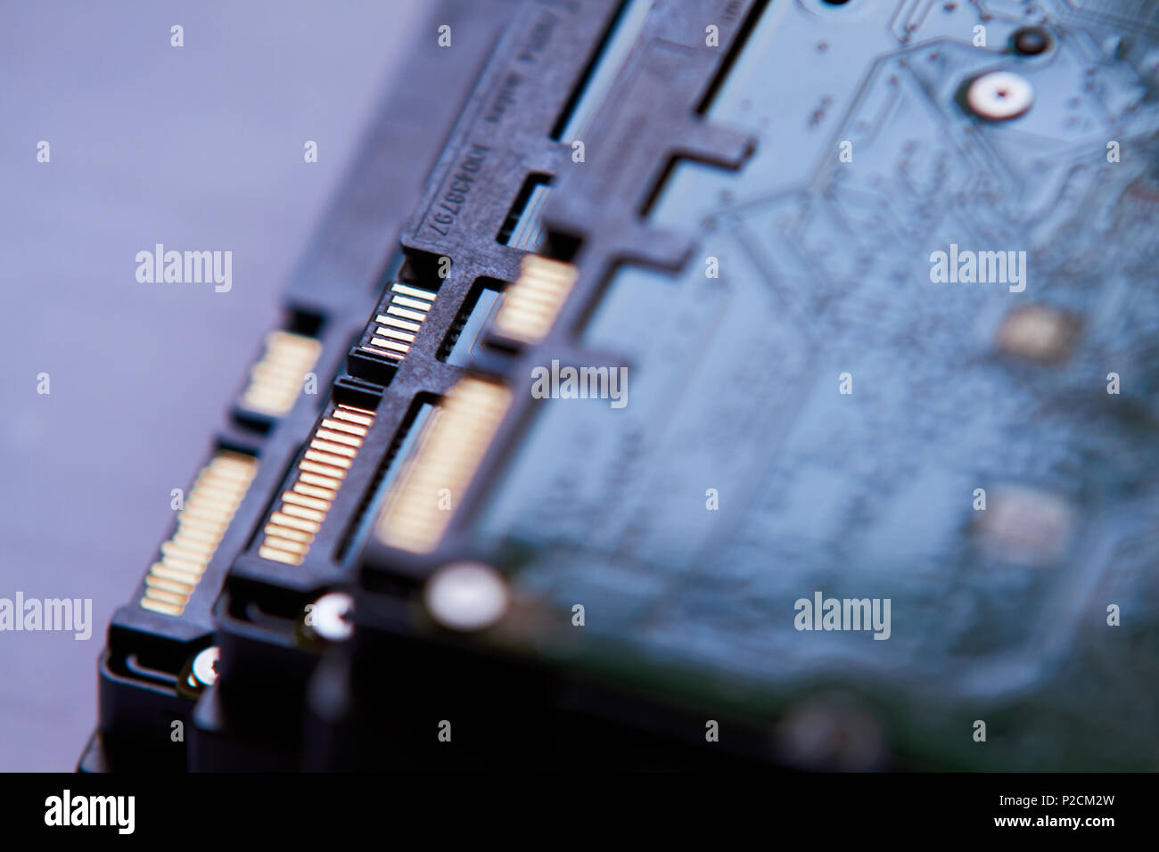 Hard Drive board and connection Stock Photo