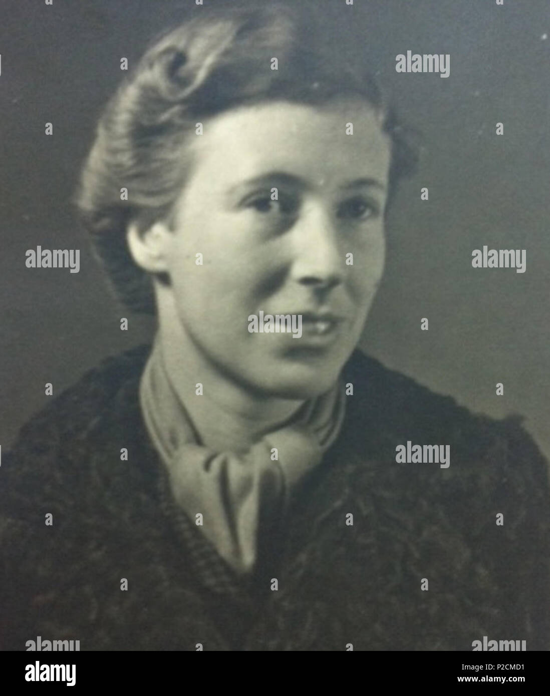 . Alice von Platen .  English: This is a portrait of Alice Ricciardi-von Platen in her late twenties. . circa 1939 3 Alice von Platen in 1939 original - Stock Image