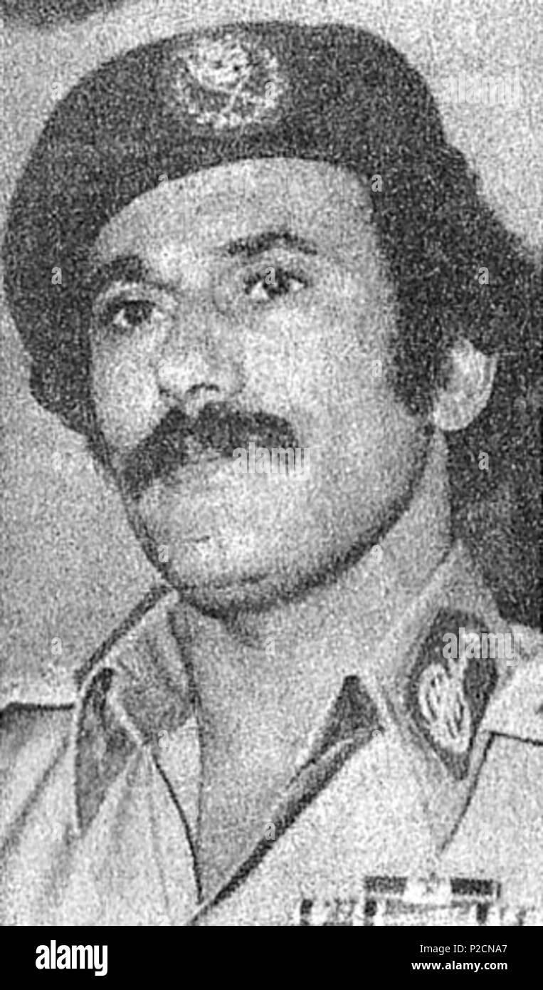 . English: Ali Abdullah Salih, president of Yemeni Arab Republic (North Yemen) . 1988. Iraqi News Agency (INA) 50 Saleh 1988 - Stock Image
