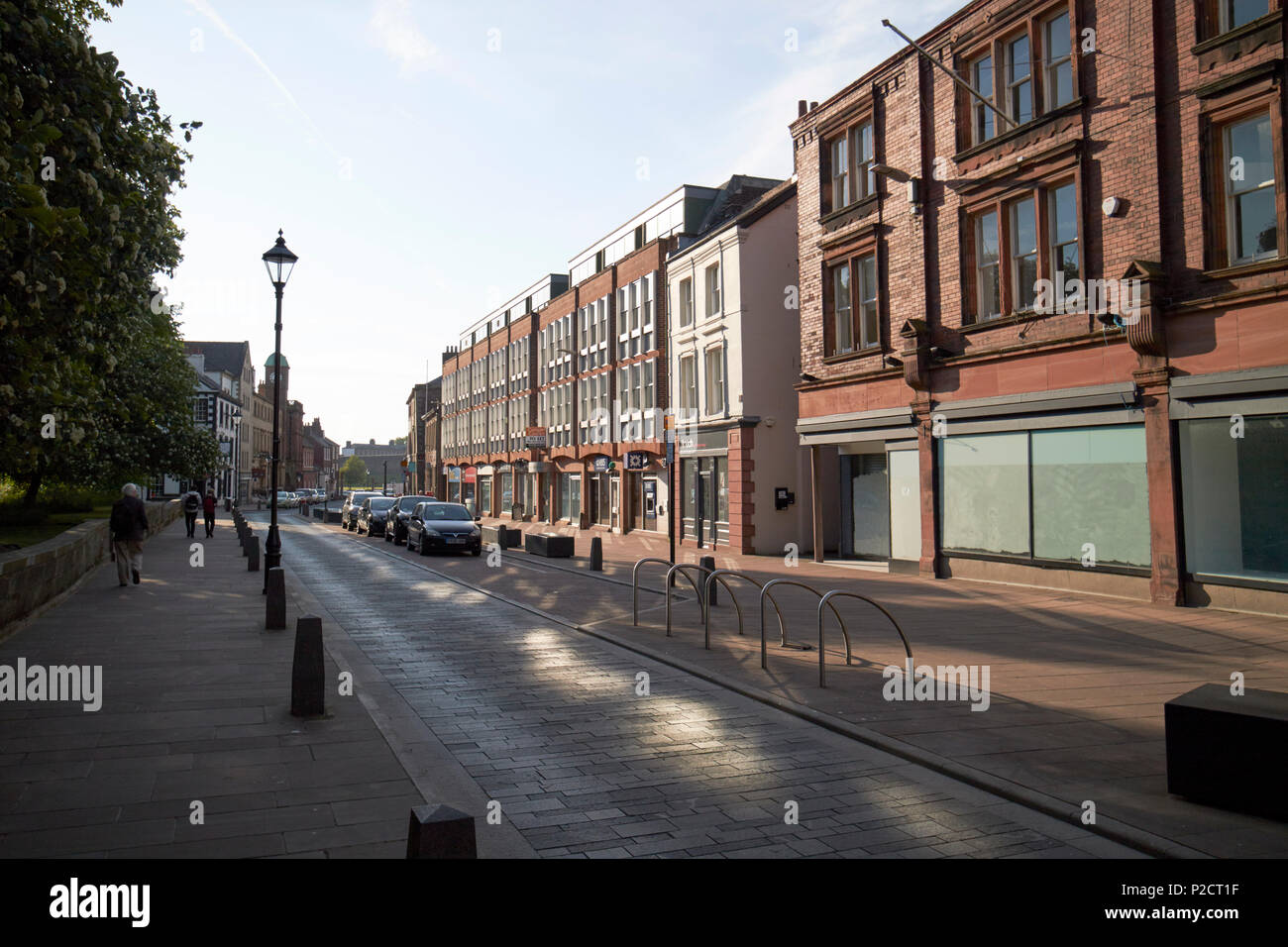 castle street in early evening Carlisle Cumbria England UK - Stock Image
