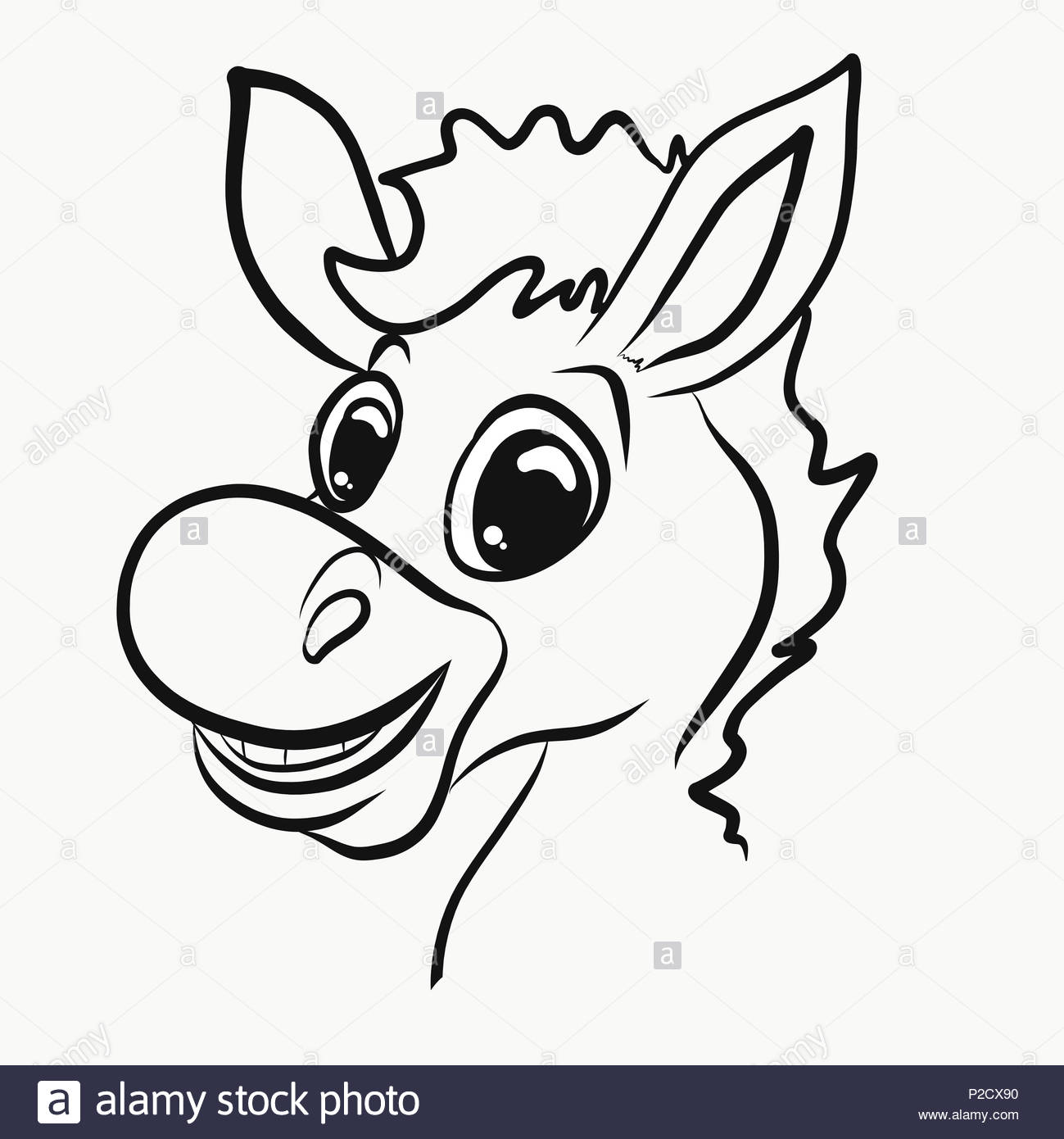 donkey profile cut out stock images pictures alamy All Breeds of Spaniels young cheerful donkey head profile stock image