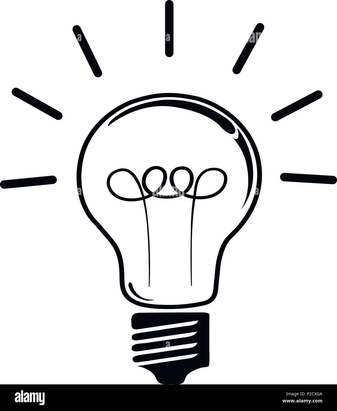 idea light bulb symbol Stock Vector Art & Illustration