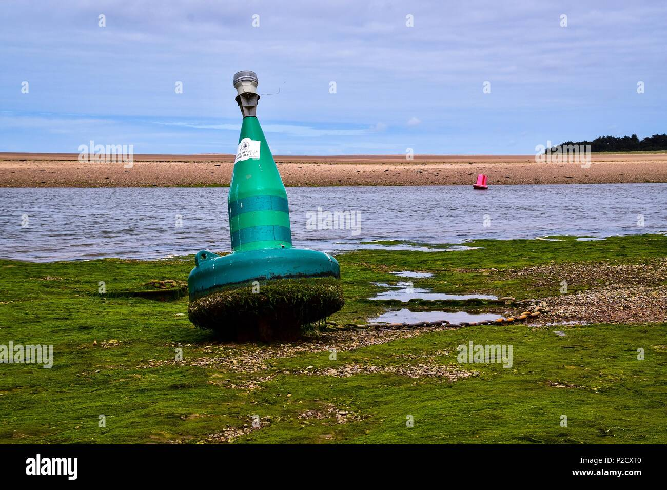 Starboard channel marker buoy - Stock Image