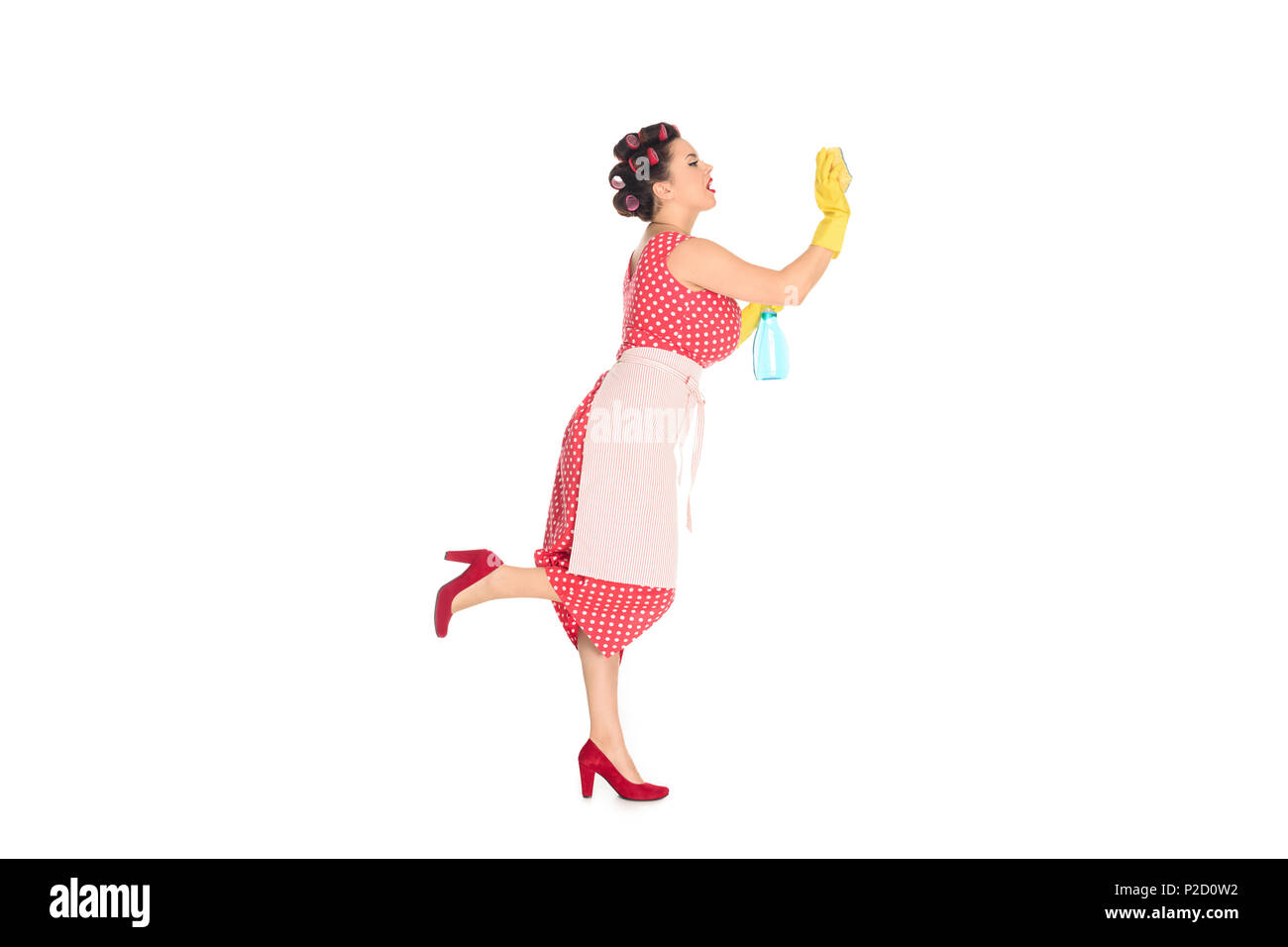 Retro Woman Cleaning Cut Out Stock Images Amp Pictures Alamy