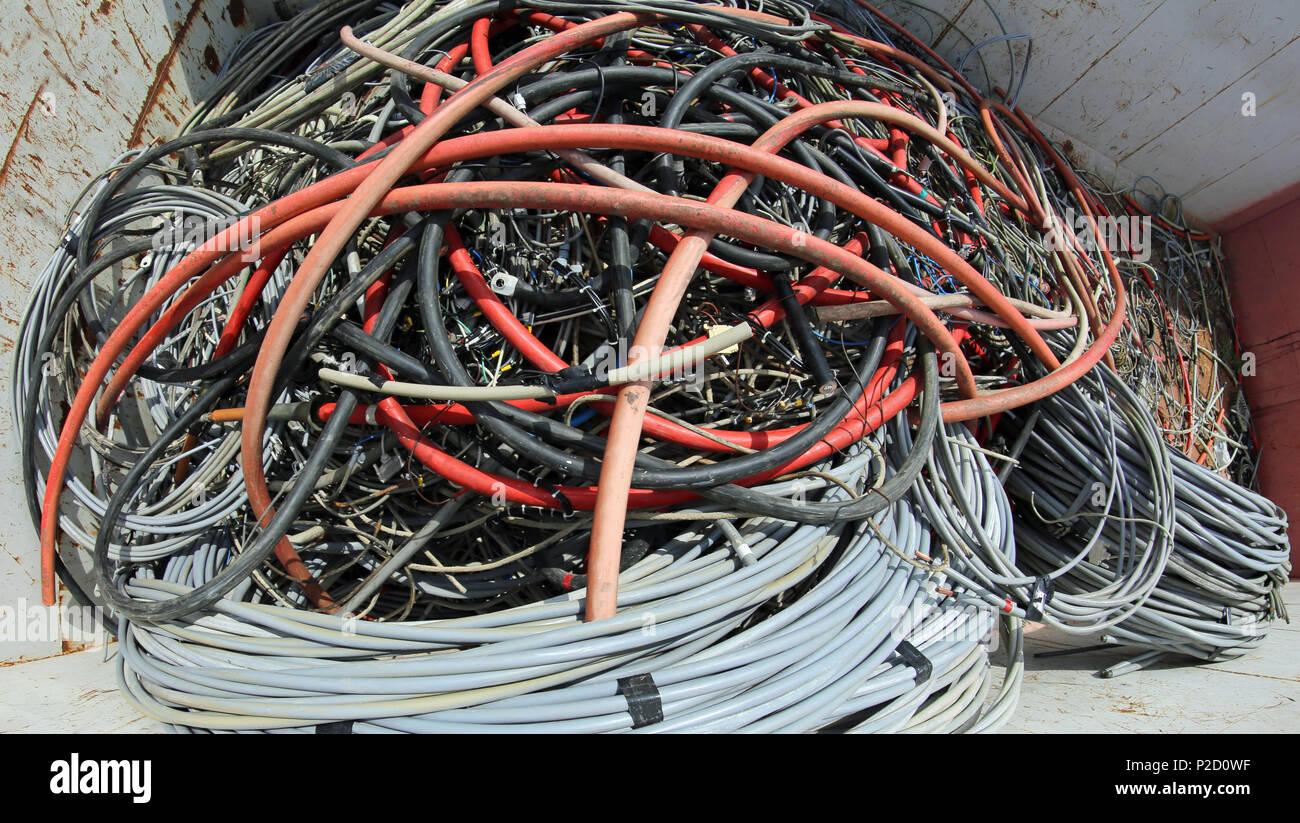 Where To Find Big Copper Wire   Copper Wires In Container Stock Photos Copper Wires In Container