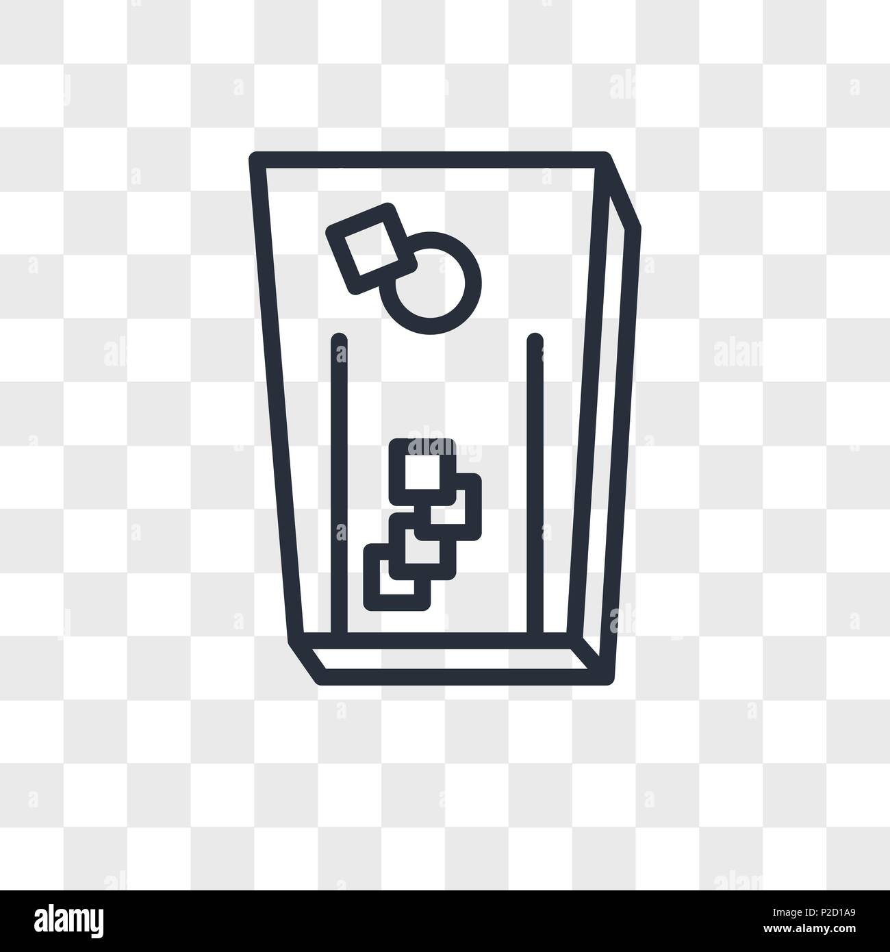 cornhole vector icon isolated on transparent background, cornhole logo concept - Stock Image