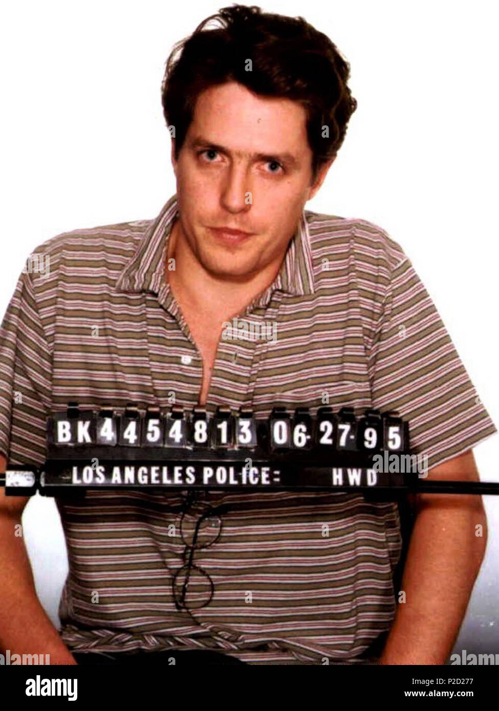 Hugh Grant mugshot, 1995   27 June 1995  Los Angeles County