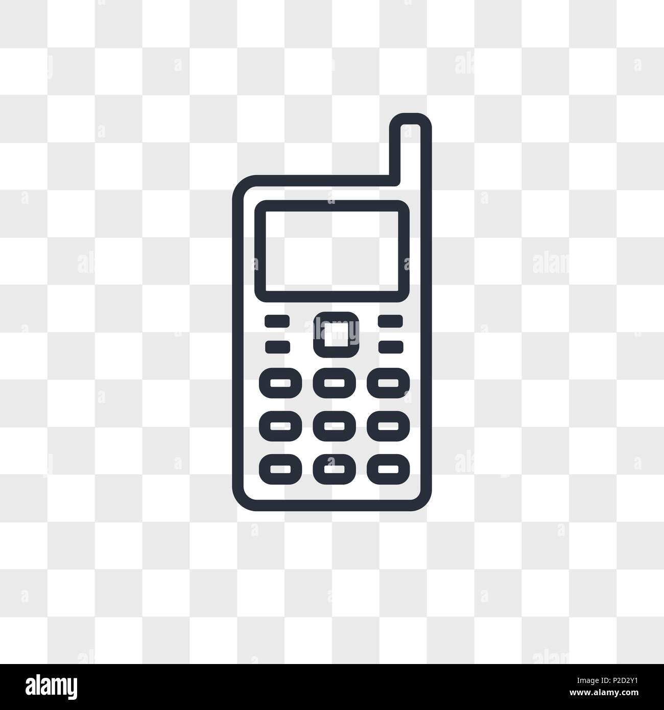 Handphone Vector Icon Isolated On Transparent Background Handphone
