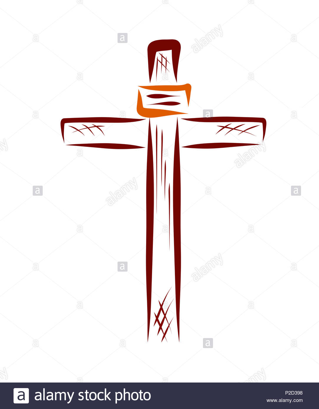 Cross With A Sign Christian Symbols Religion Stock Photo