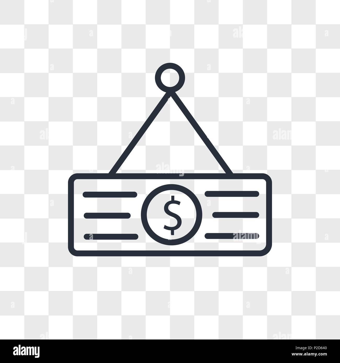 Price Tag Vector Icon Isolated On Transparent Background Price Tag Logo Concept Stock Vector Image Art Alamy