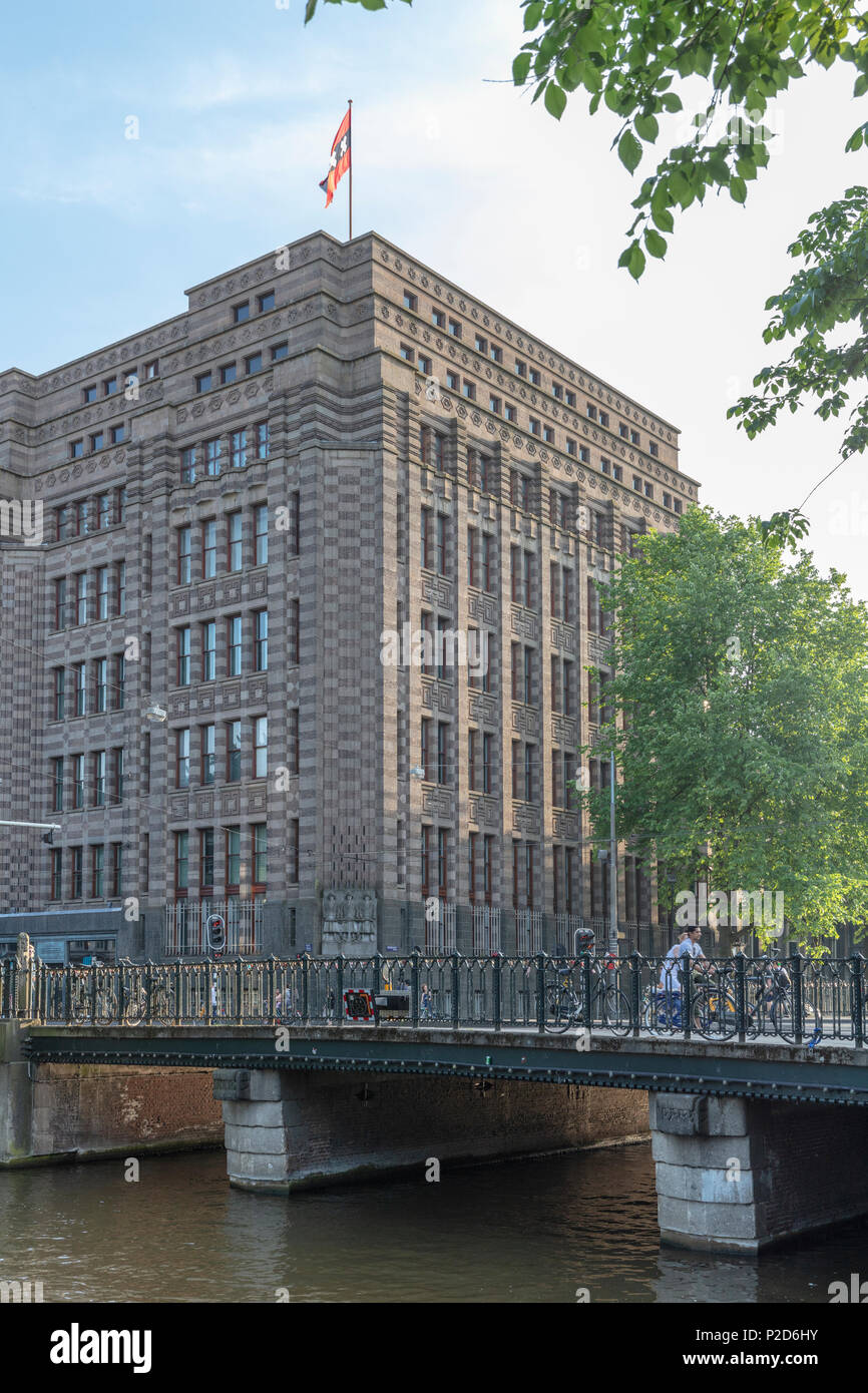 ormer Netherlands Trading Society -  now Amsterdam City Archives - from Keizerzgracht - Stock Image
