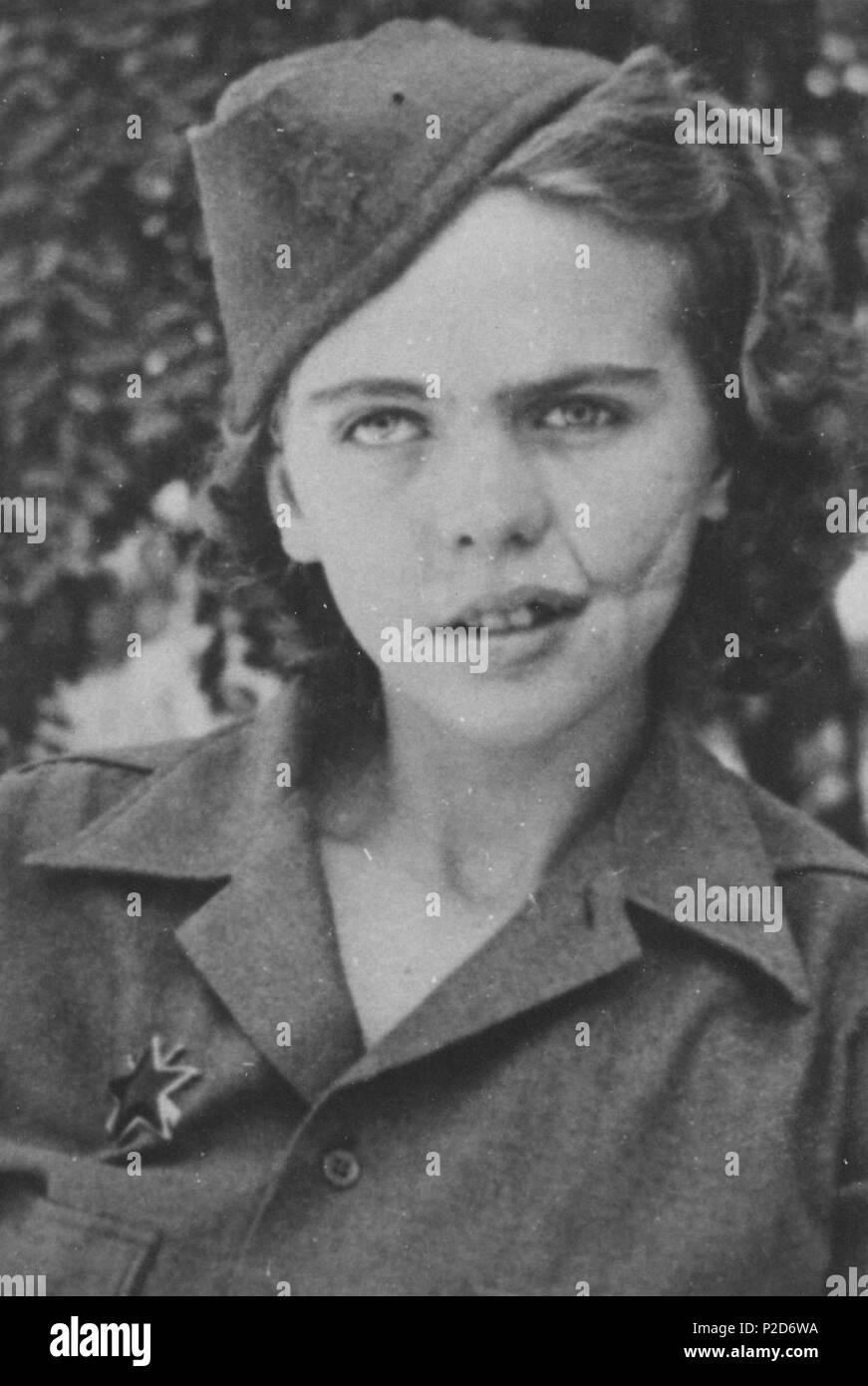 . English: Albina Mali-Ho?evar (1925-), . between 1941 and 1945. Unknown 3 Albina Mali Stock Photo