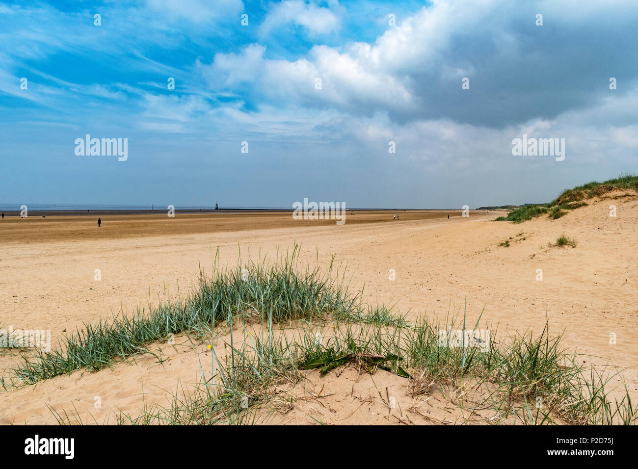 crosby beach near liverpool, merseyside, england, britain, uk. - Stock Image