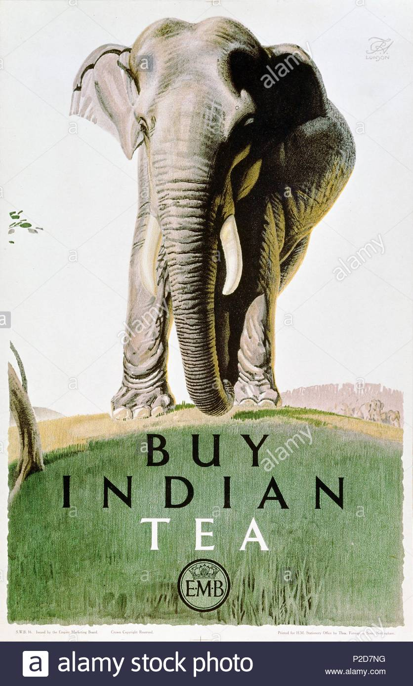 Poster Buy Indian Tea Issued By The Empire Marketing Board 20th Century
