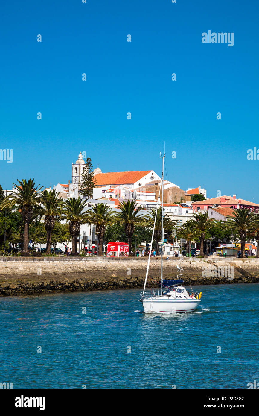 Promenade, Lagos, Algarve, Portugal - Stock Image