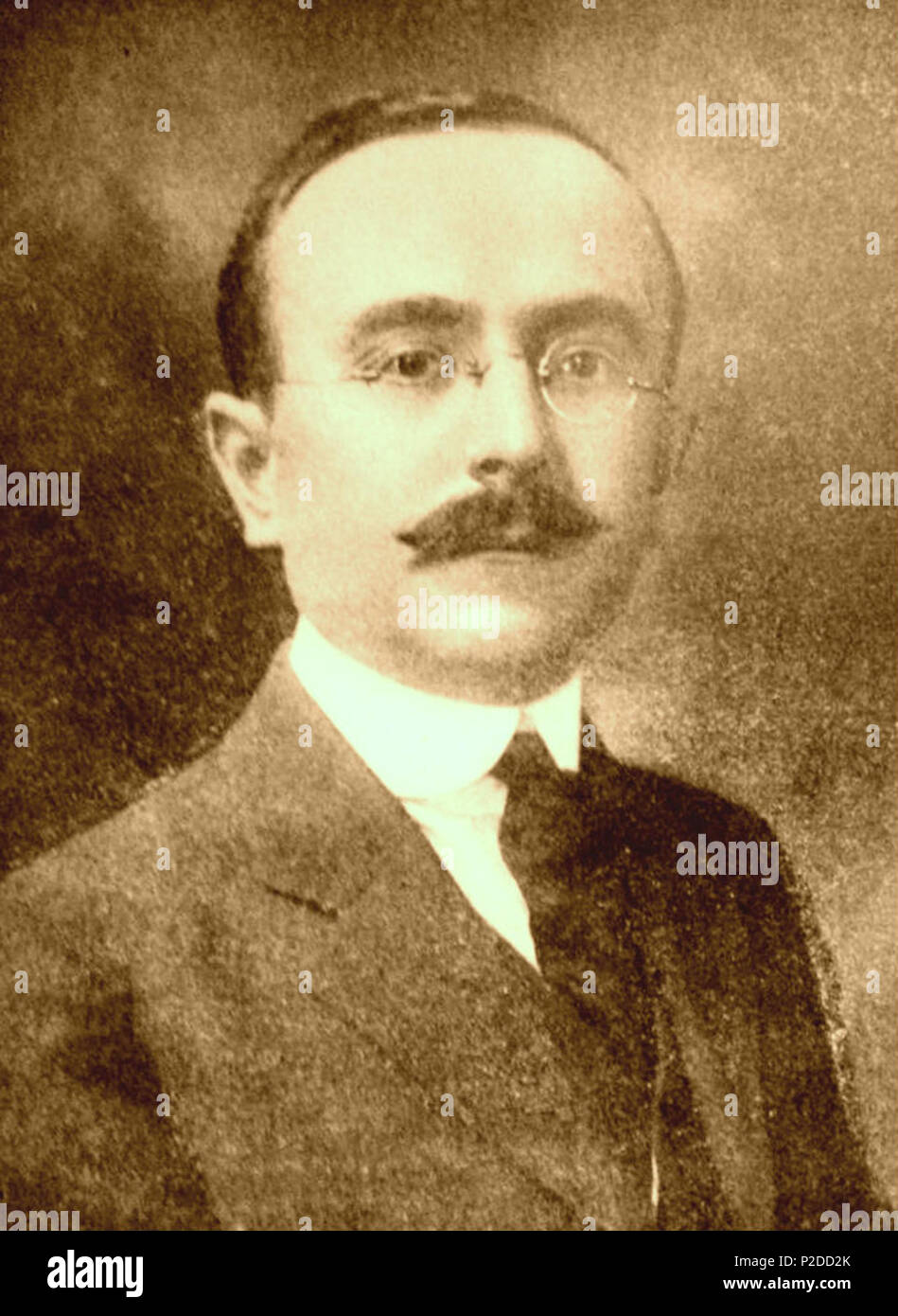 . English: Kole Tromara (1882-1945), Albanian politician and leader of the Albanian community in Boston, MA. Photo of 1920s, while serving as a Prefect in Albania . 1920s. NA. Photo taken during 1920s 29 Kole Tromara (1882-1945), Albanian politicianStock Photo