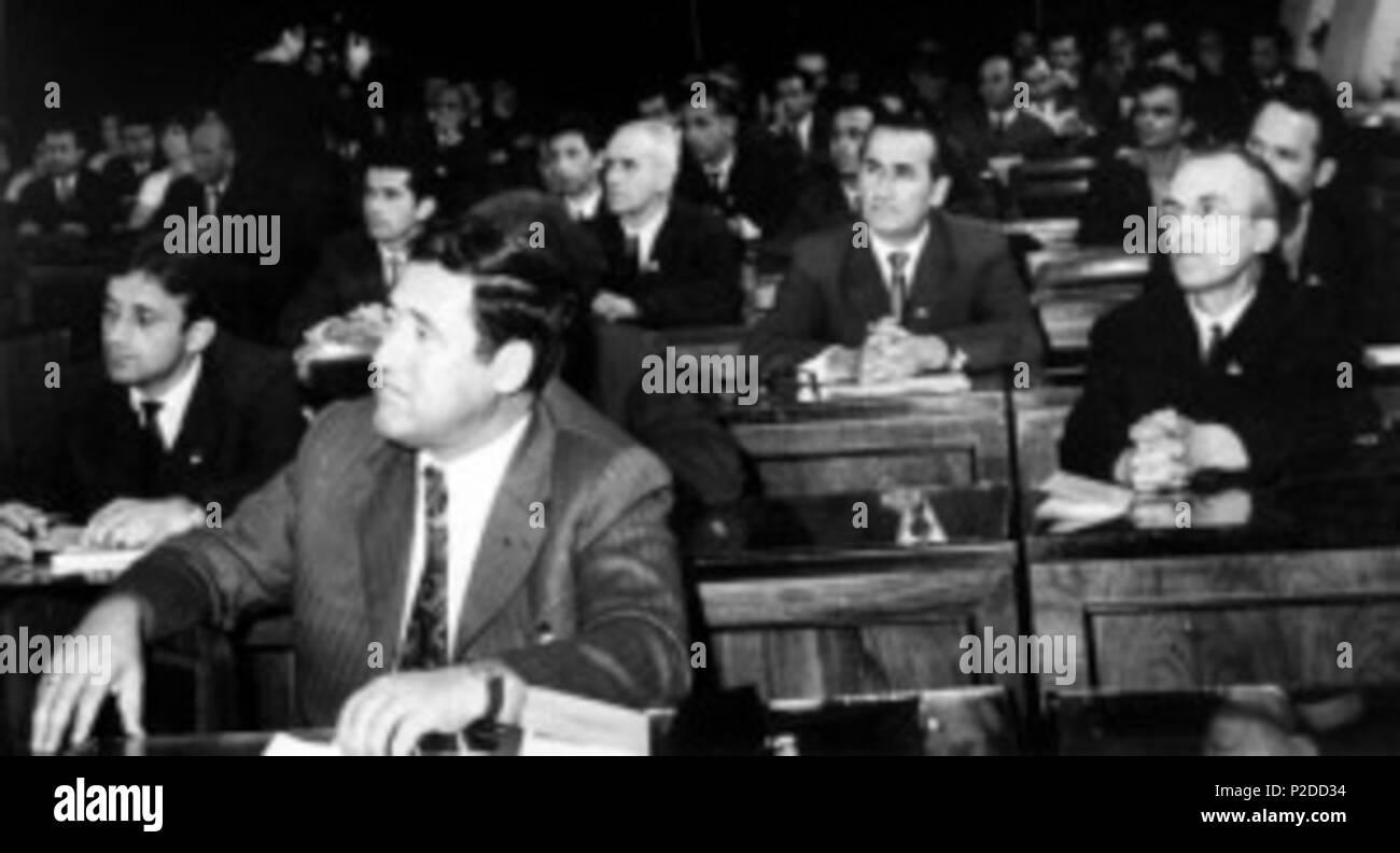 . English: Albanian Orthography Congress, Tirana, 1972 . November 1972. NA 29 Kongresi-i-drejtshkrimit-300x162 - Stock Image