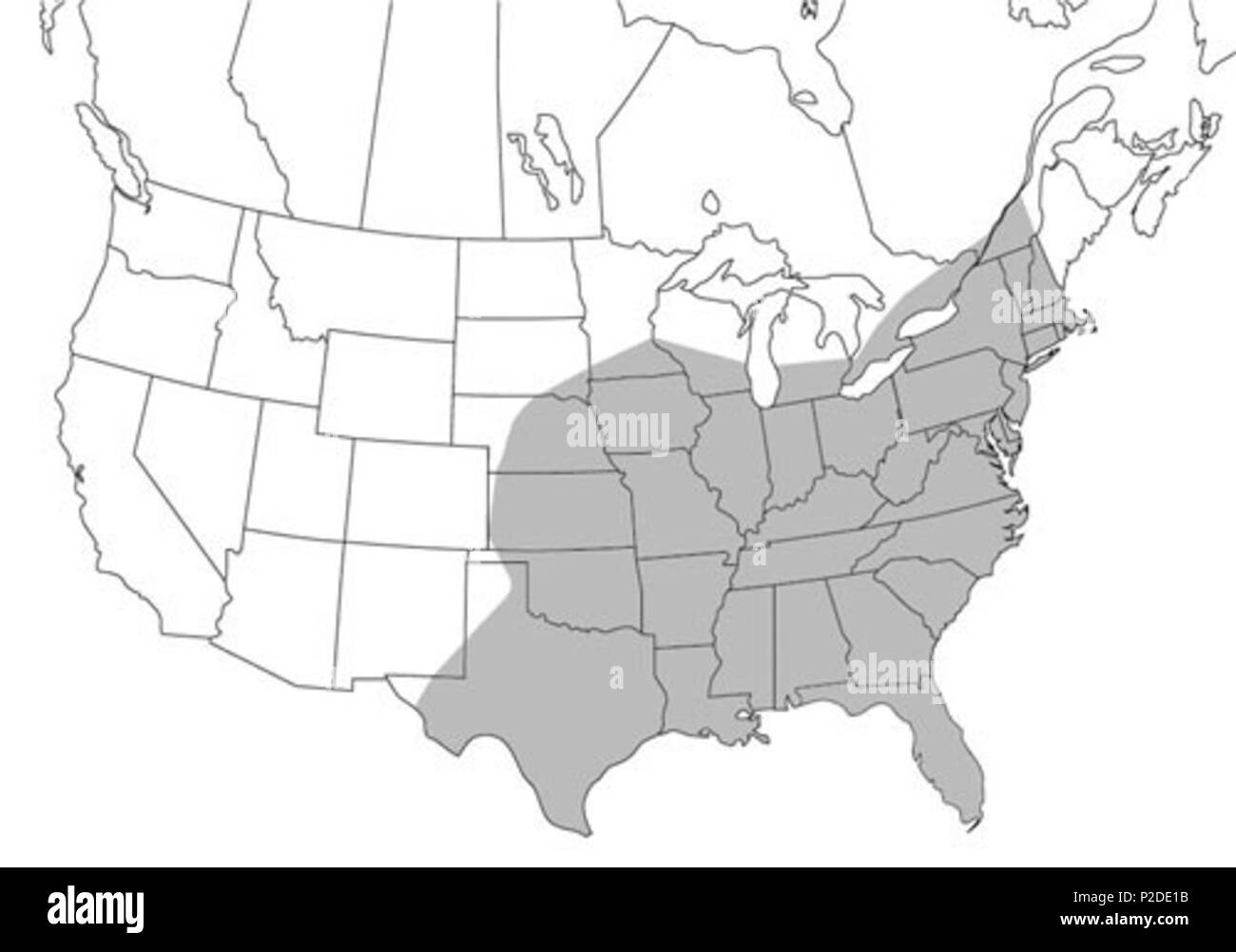 University Of Florida Map.English The North American Range Of The Psorophora Ciliata Mosquito