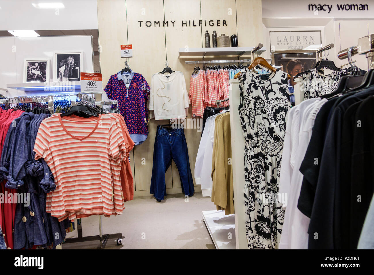 3c0faa0f1826 Florida Jensen Beach Macy s Department Store inside shopping women s plus  size clothing casual wear Tommy Hilfiger designer tops jeans sale display
