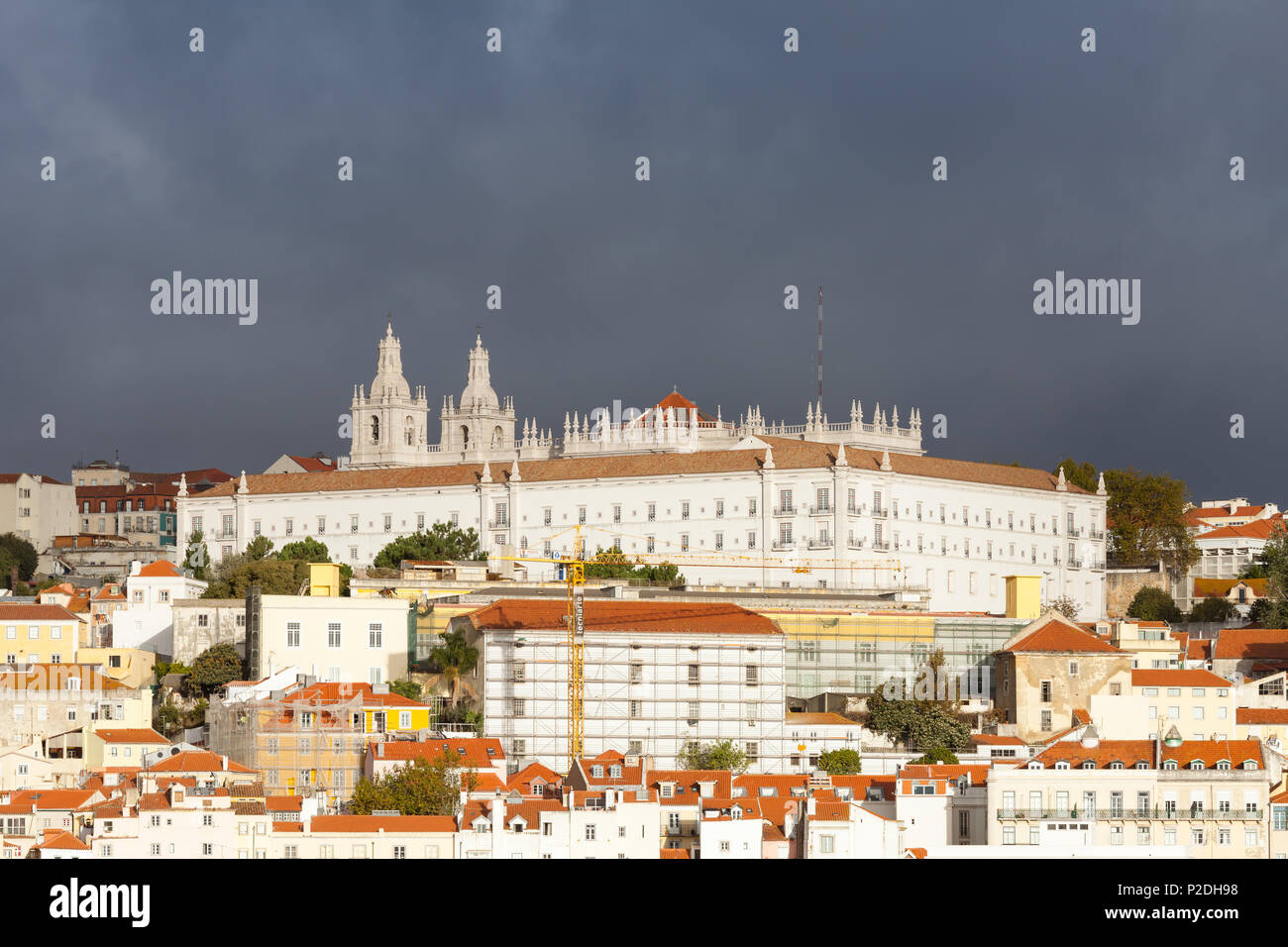 The Monastery of Saint Vincent Outside the Walls in Lisbon, Portugal. Stock Photo