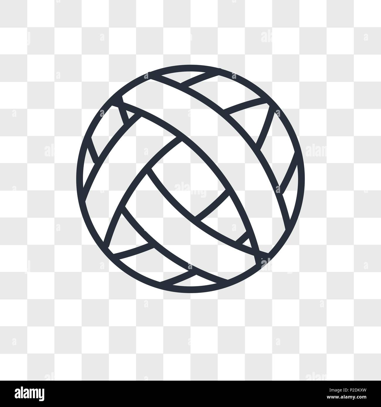 Football Vector Icon Isolated On Transparent Background Football