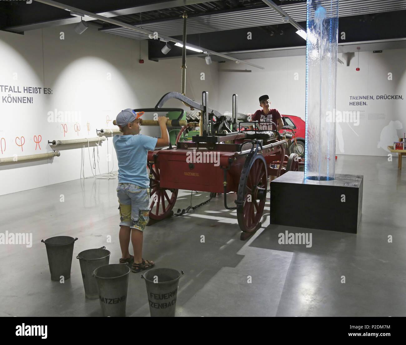 Rheinland-Pfaelzisches Feuerwehr museum Fire-Brigade museum in Hermeskeil, Administrative district of  Trier-Saarburg, Region of - Stock Image