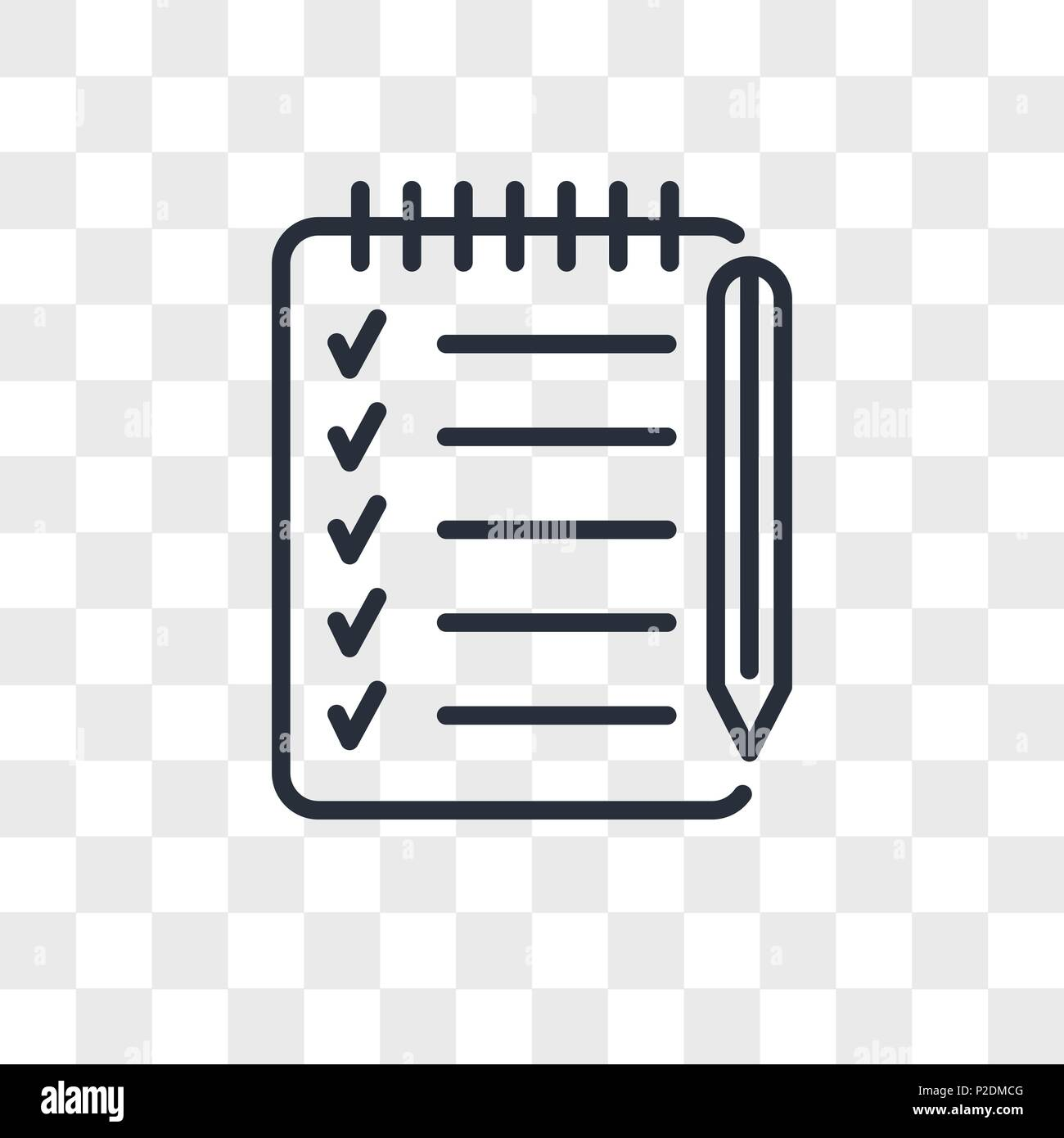 checklist vector icon isolated on transparent background, checklist